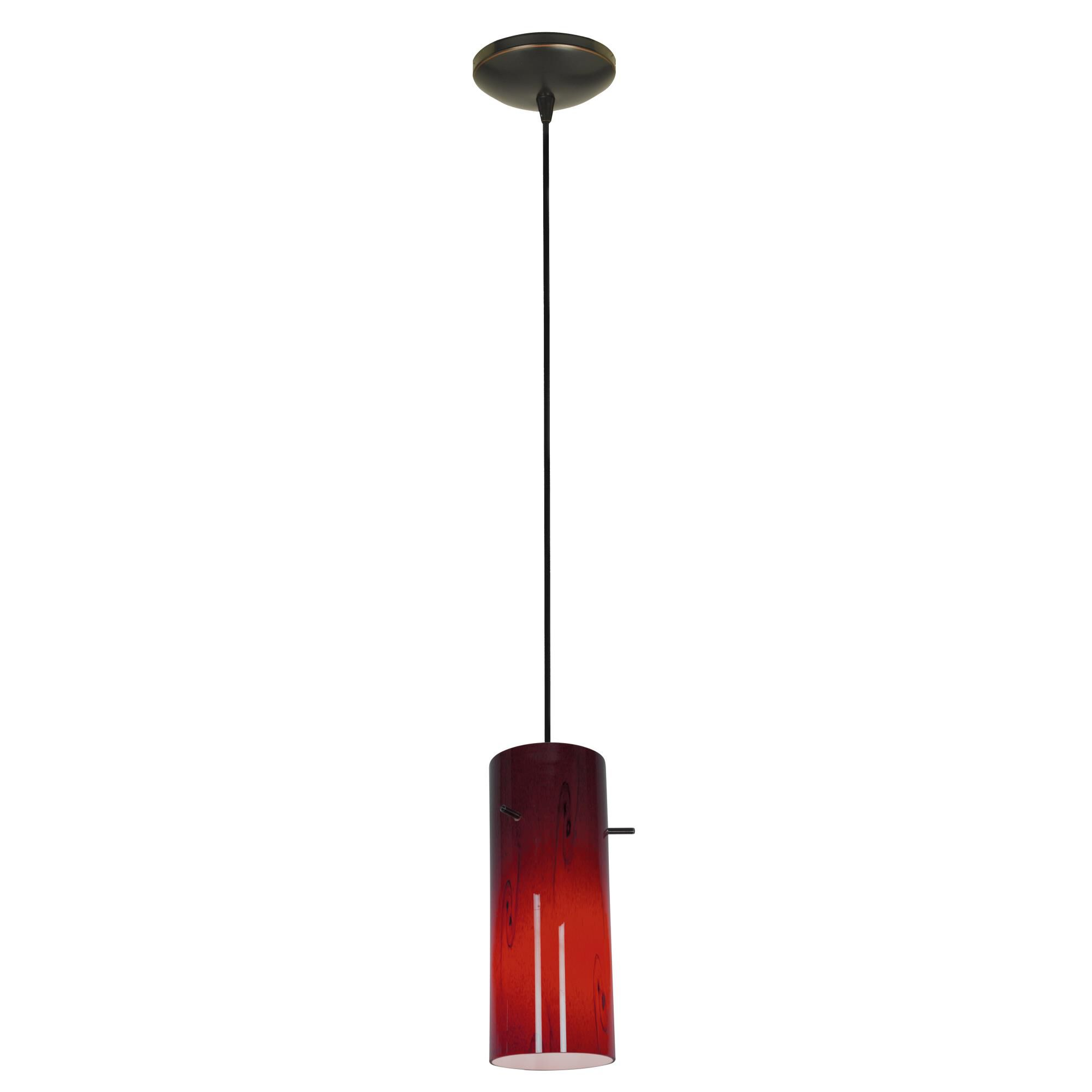 Access Lighting Cylinder LED Mini Pendant Cylinder 28030 3C ORBRED Modern Contemporary