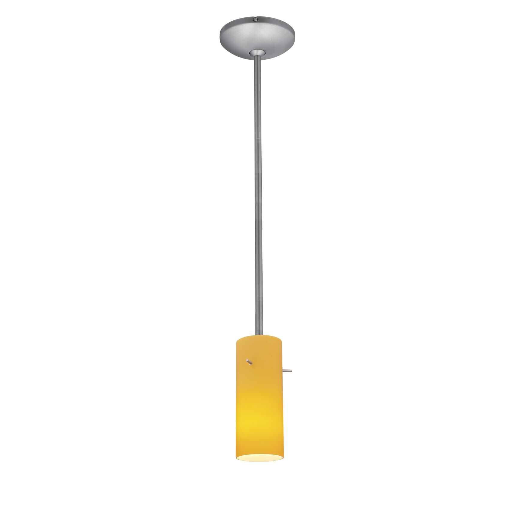 Access Lighting Cylinder 4 Inch Mini Pendant Cylinder 28030 1R BSAMB Modern Contemporary