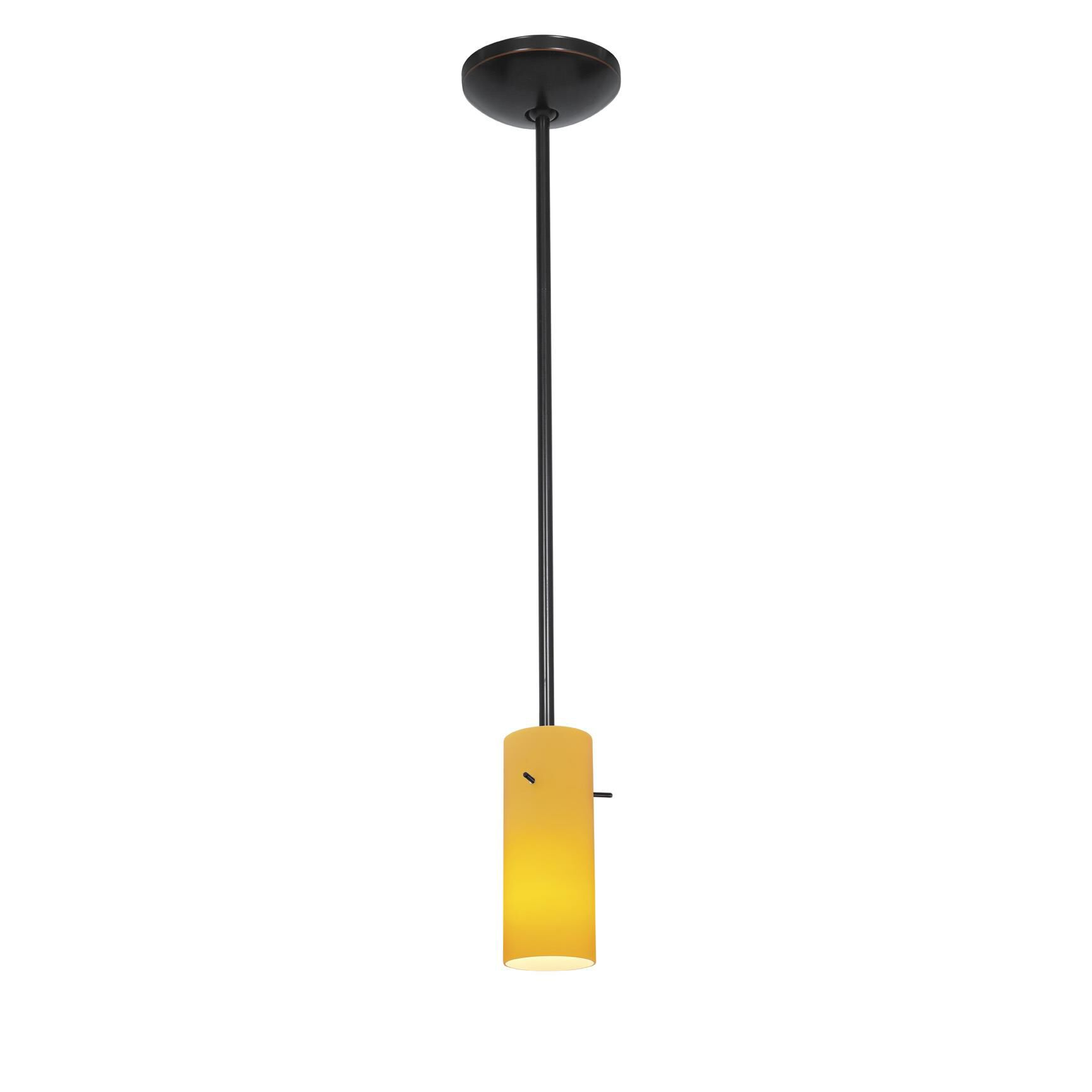 Access Lighting Cylinder 4 Inch Mini Pendant Cylinder 28030 1R ORBAMB Modern Contemporary