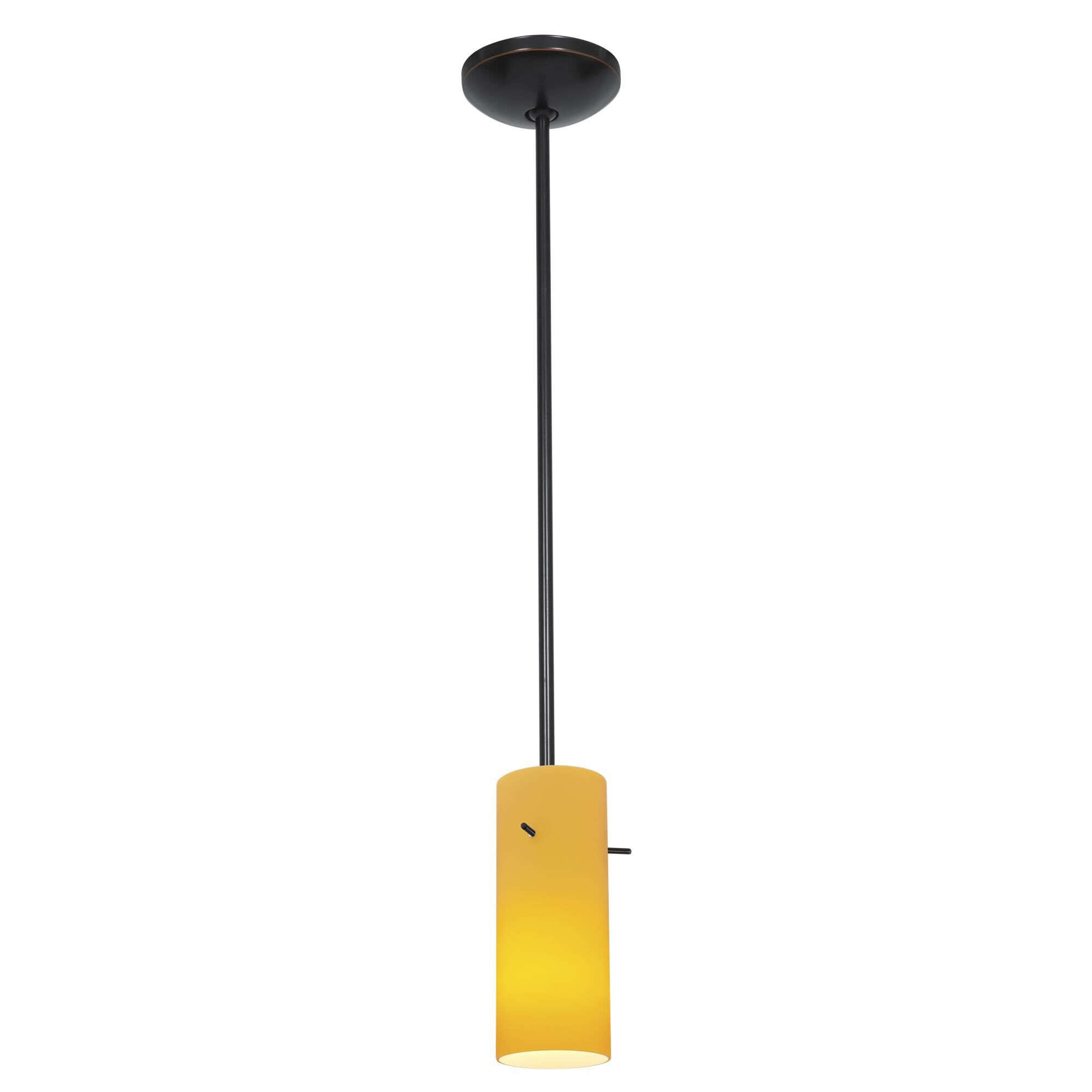 Access Lighting Cylinder LED Mini Pendant Cylinder 28030 4R ORBAMB Modern Contemporary