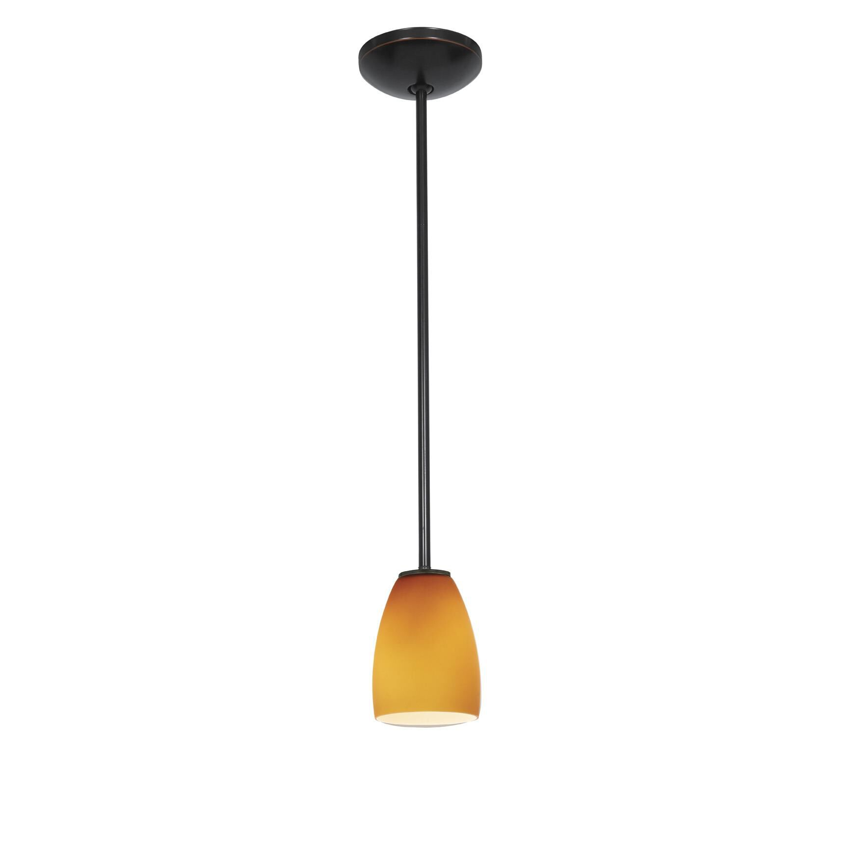 Access Lighting Sherry 6 Inch Mini Pendant Sherry 28069 1R ORBAMB Modern Contemporary