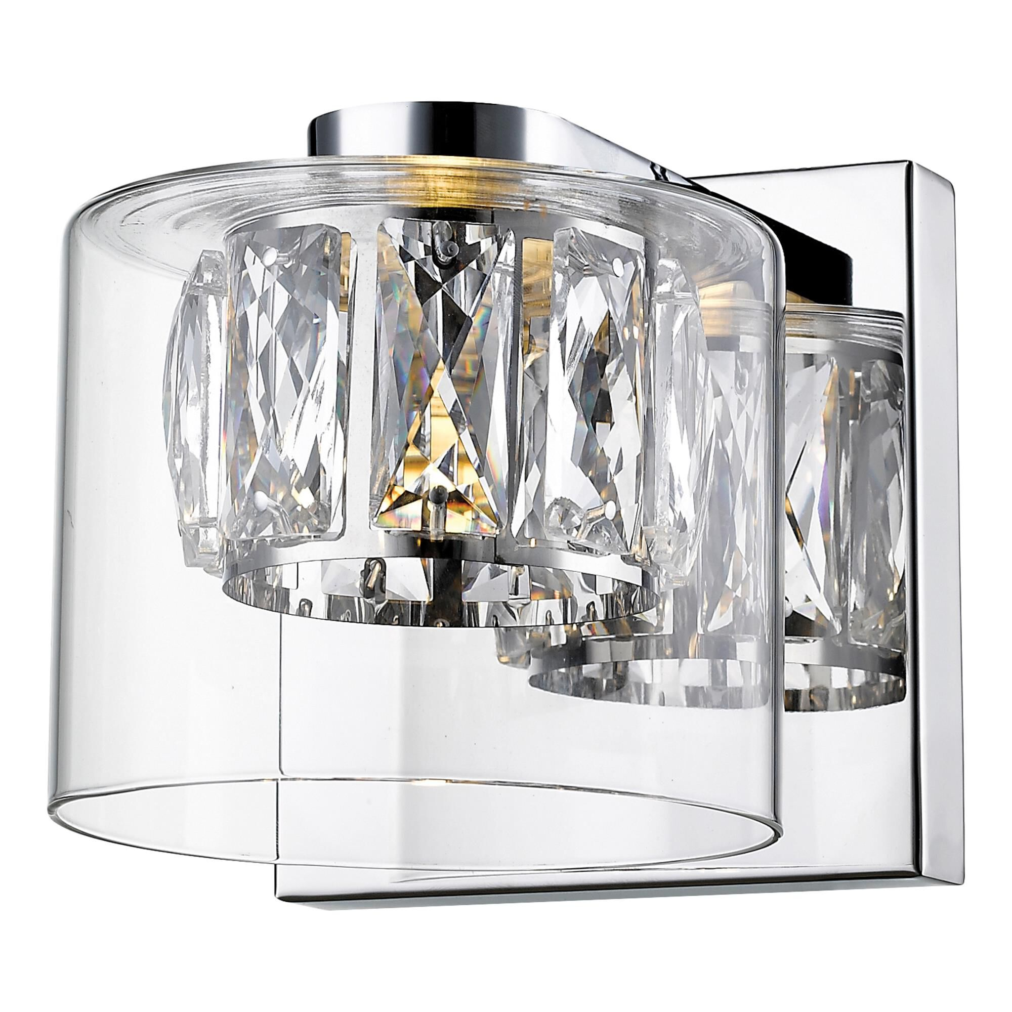 Access Lighting Private Collection 4 Inch 1 Light LED Bath Vanity Light Private Collection 62555LEDD MSSCCLCLR Crystal