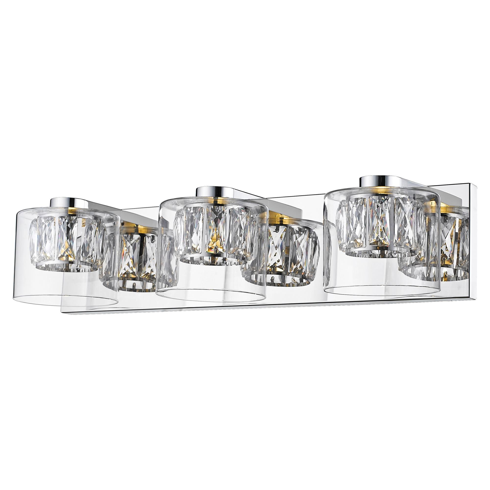 Access Lighting Private Collection 20 Inch 3 Light LED Bath Vanity Light Private Collection 62556LEDD MSSCCLCLR Crystal