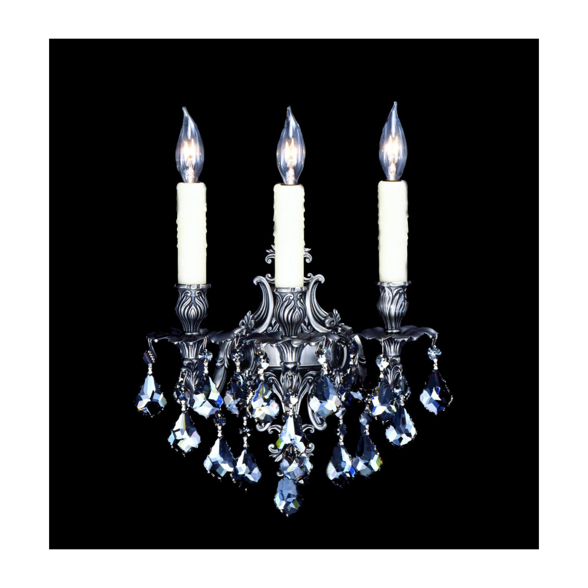 American Brass And Crystal 12 Inch Wall Sconce - Ws9483-k-07g-pi - Traditional Wall Sconce