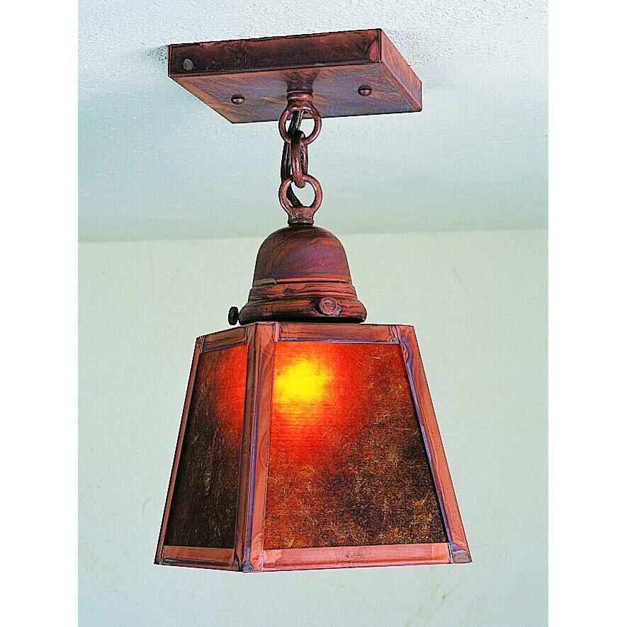 Arroyo Craftsman A-Line 5 Inch 1 Light Semi Flush Mount A-Line - ACM-1E-RM-S - Craftsman-Mission