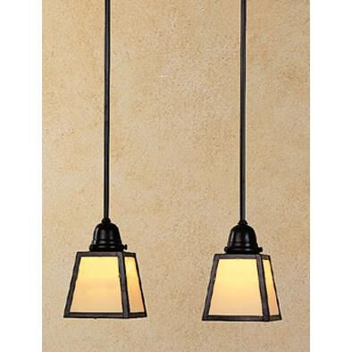 Arroyo Craftsman A-Line 15 Inch 2 Light Linear Suspension Light A-Line - AICH-2E-GW-AB - Craftsman-Mission