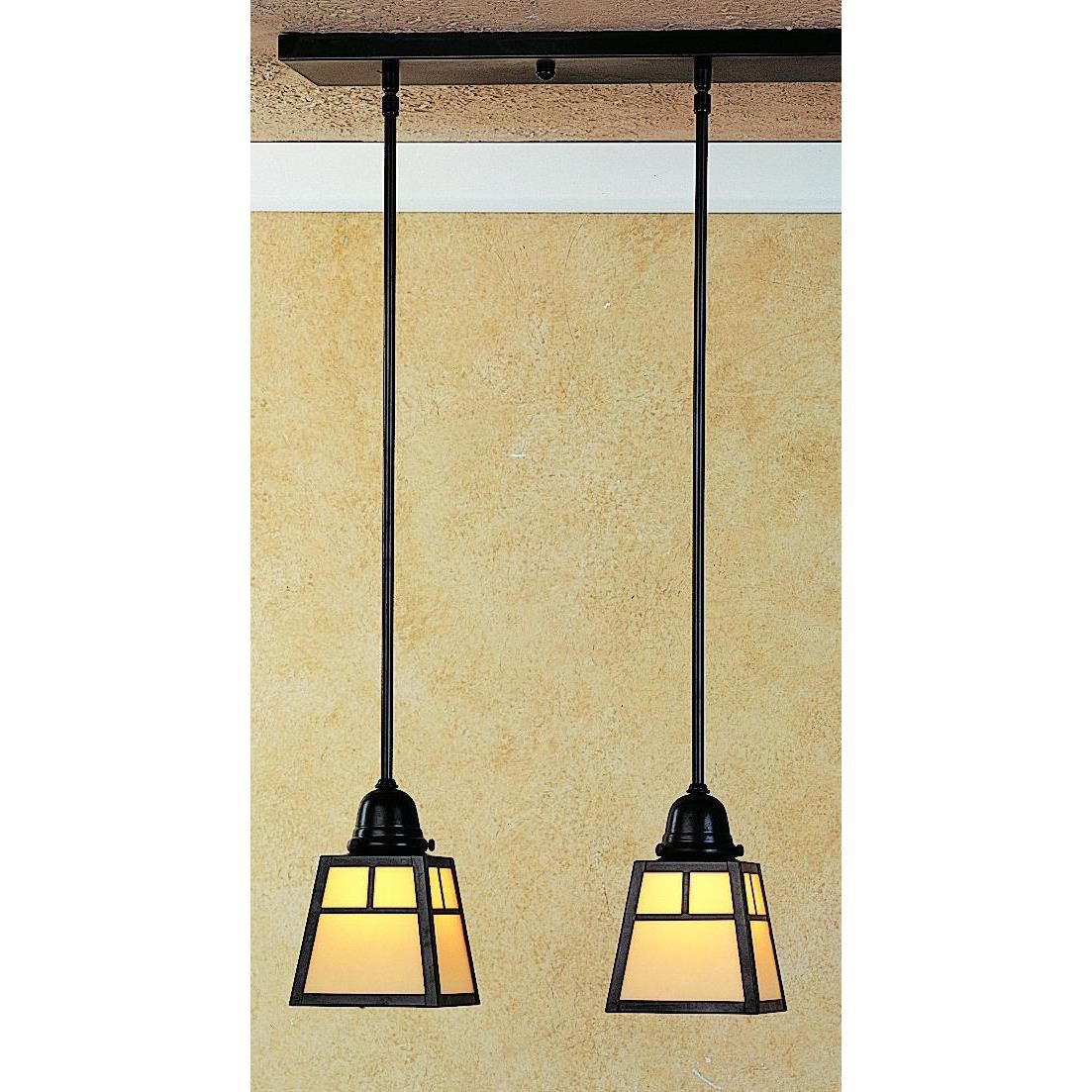 Arroyo Craftsman A-Line 15 Inch 2 Light Linear Suspension Light A-Line - AICH-2T-OF-AC - Craftsman-Mission