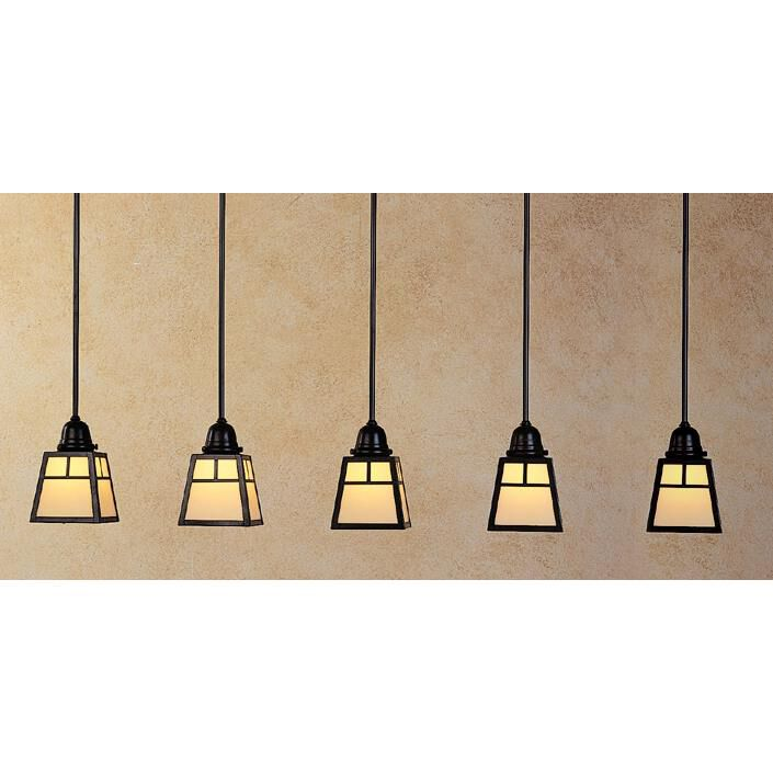 Arroyo Craftsman A-Line 48 Inch 5 Light Linear Suspension Light A-Line - AICH-5T-CS-BZ - Craftsman-Mission