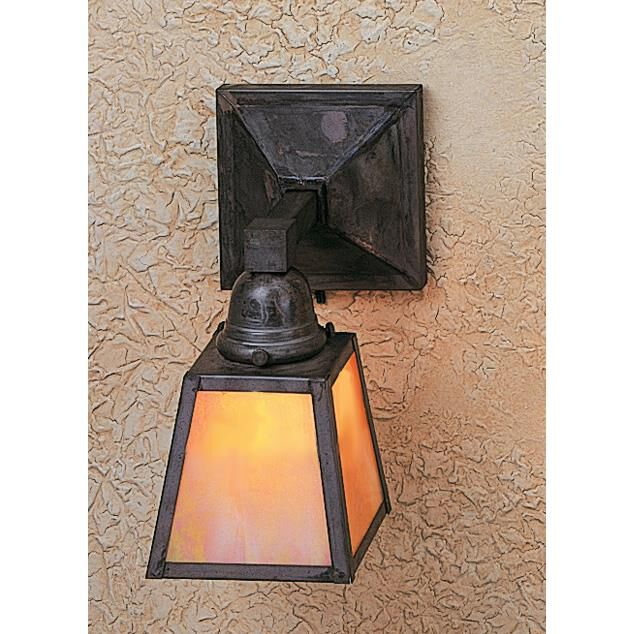 Arroyo Craftsman A-Line 10 Inch Wall Sconce A-Line - AS-1E-GW-MB - Craftsman-Mission