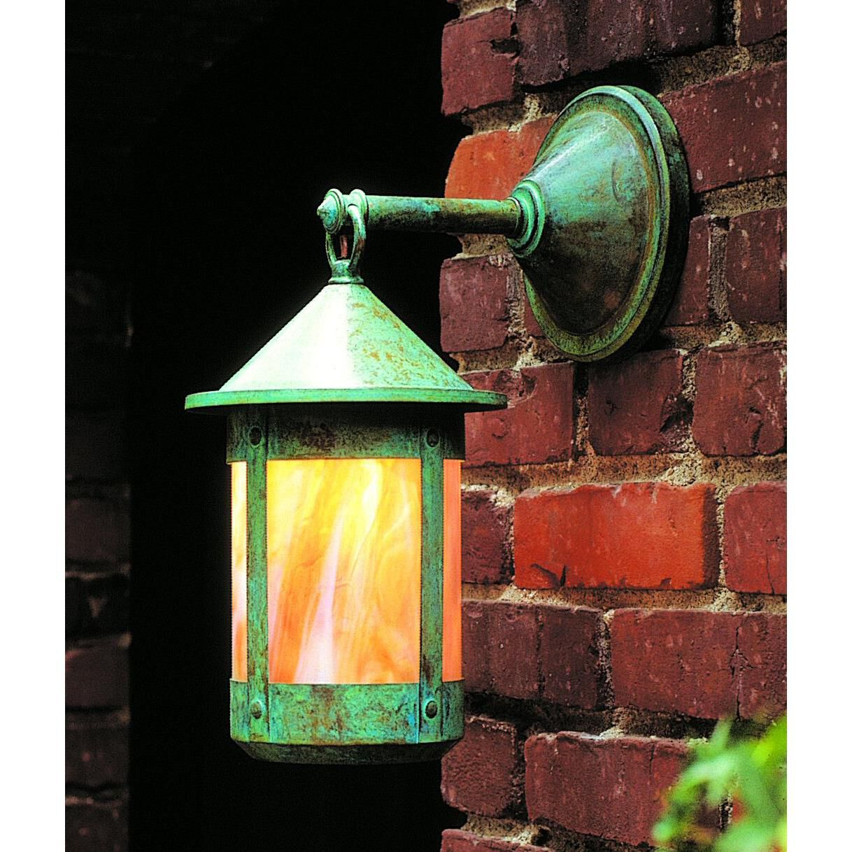 Designer Lights Room & Exterior Arroyo Craftsman Berkeley 13 Inch Tall 1 Light Outdoor Wall Light Berkeley - BB-6-CS-RC - Craftsman-Mission Outdoor Wall Light