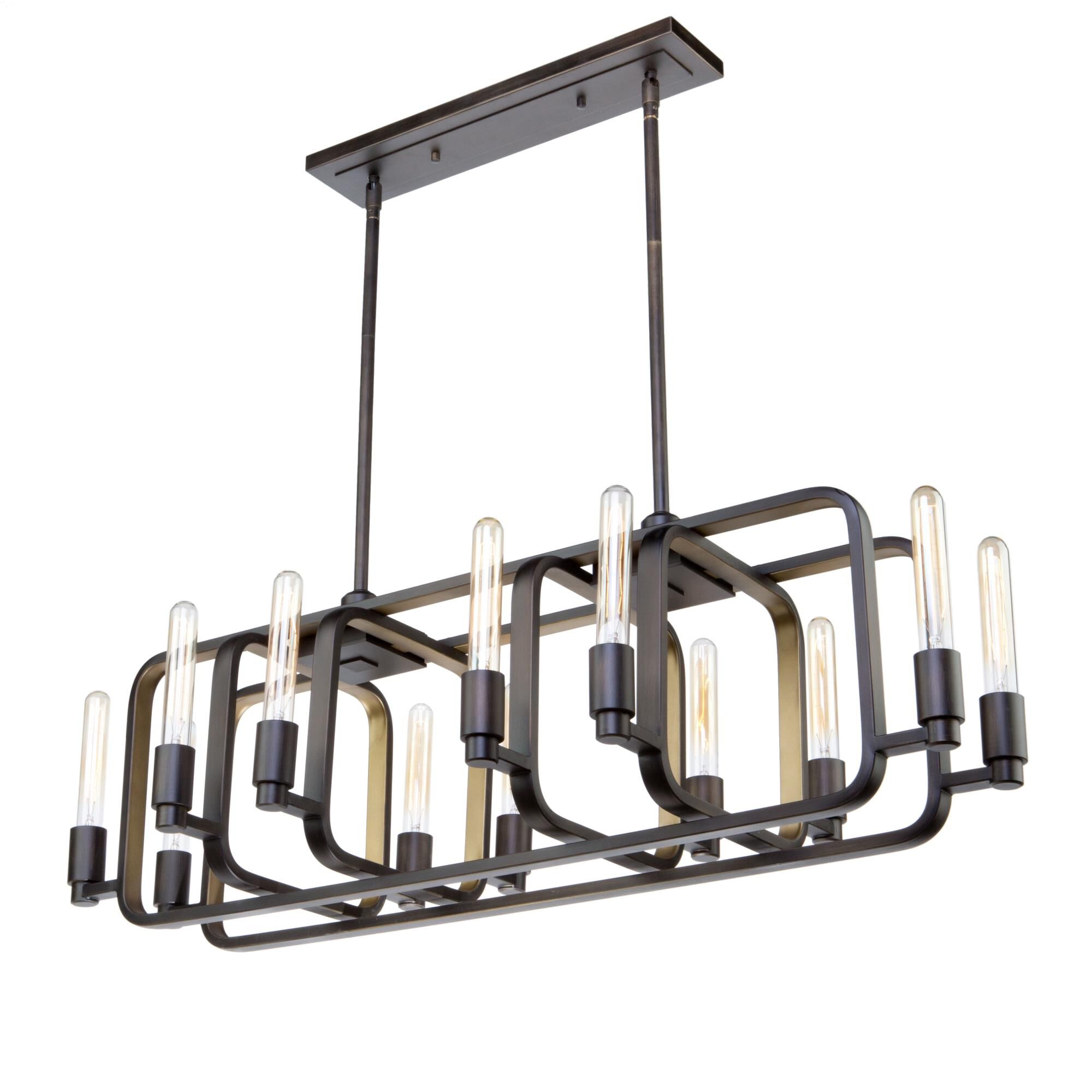 Artcraft Marlborough 41 Inch 12 Light Linear Suspension Light Marlborough - Ac11081 - Art Deco Linear Suspension Light