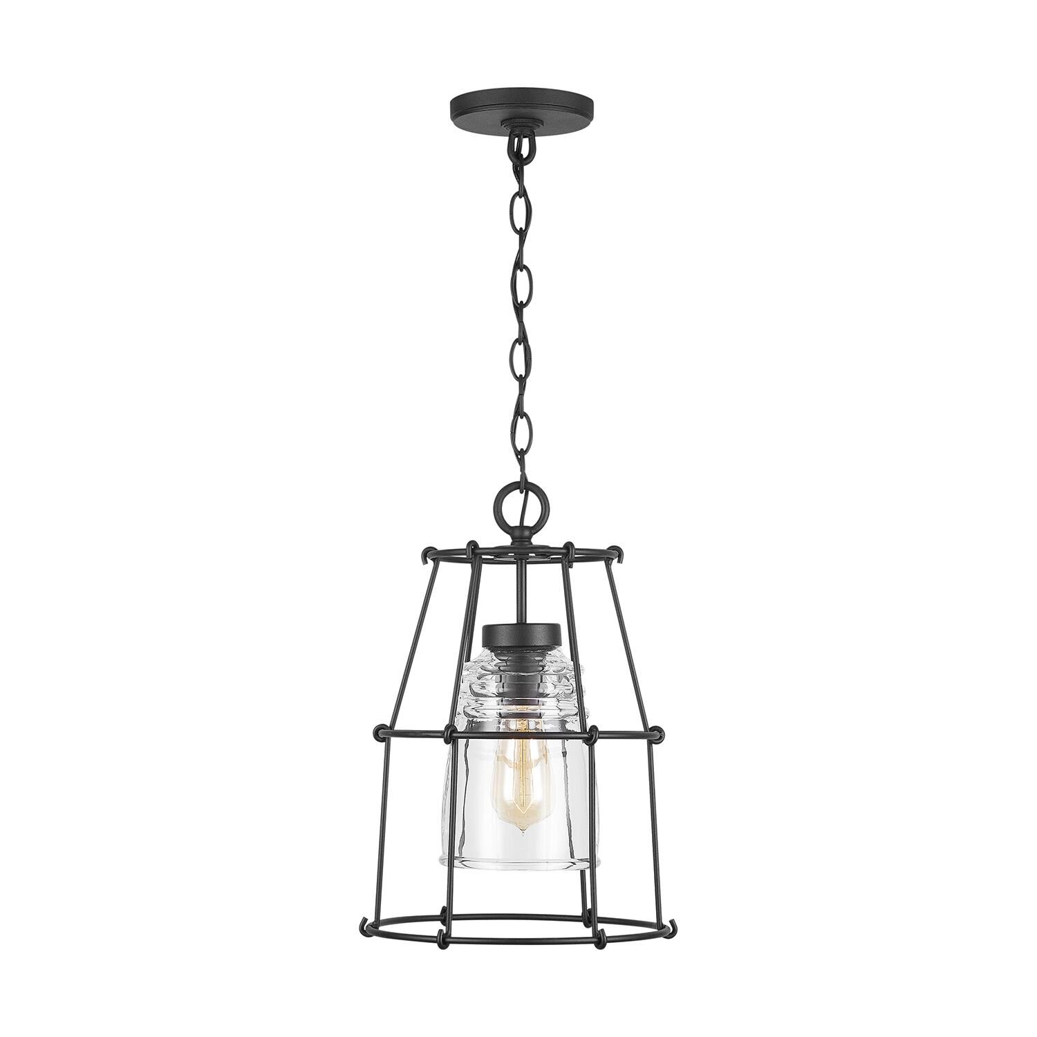 Capital Lighting Fixture Company 16 Inch Tall 1 Light Outdoor Hanging Lantern - 929711bk-462 - Rustic
