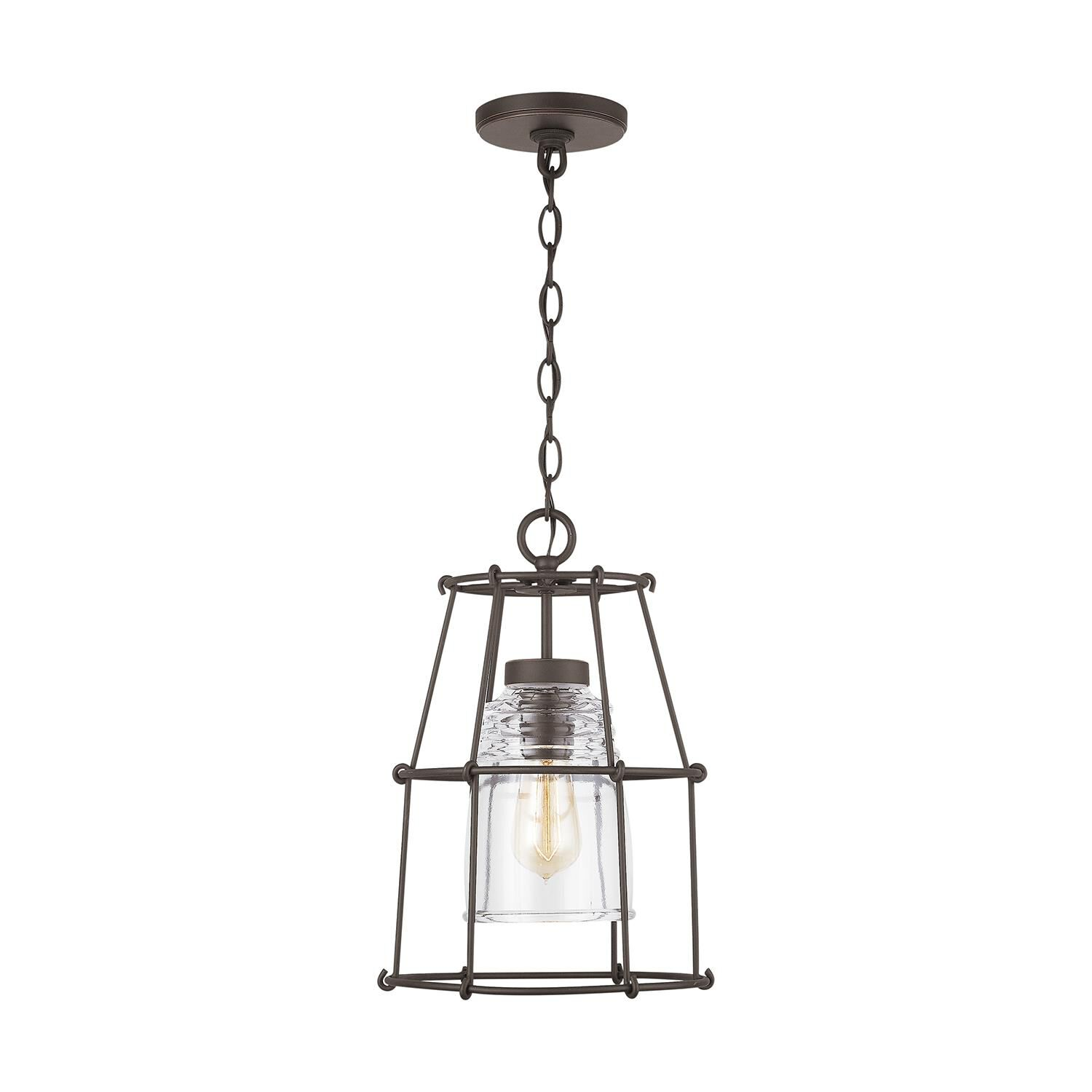 Capital Lighting Fixture Company 16 Inch Tall 1 Light Outdoor Hanging Lantern - 929711oz-462 - Rustic