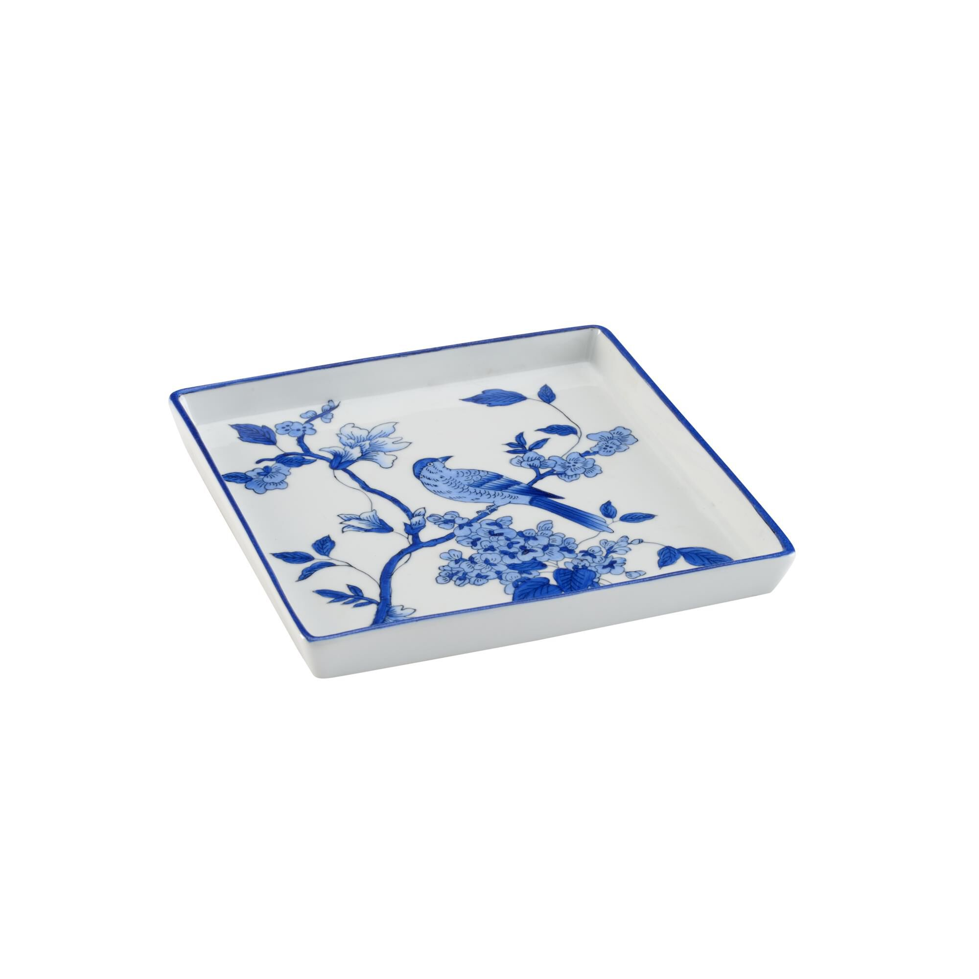 Chelsea House BLUE BIRD TRAY - SQUARE (LG) Tray - 383793 - Traditional (2275170) photo