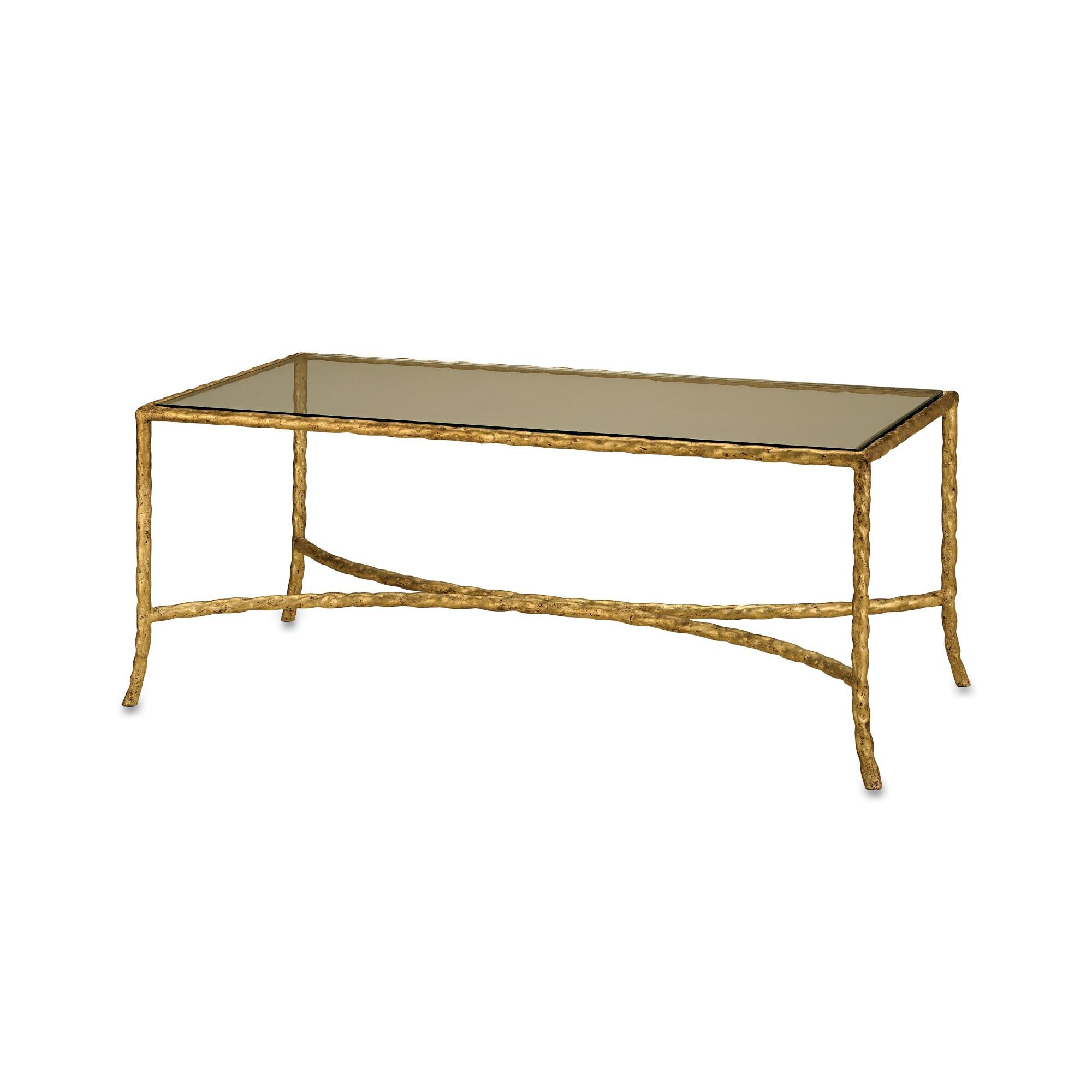 Currey and Company Gilt Console Table Gilt 4057 Modern Contemporary