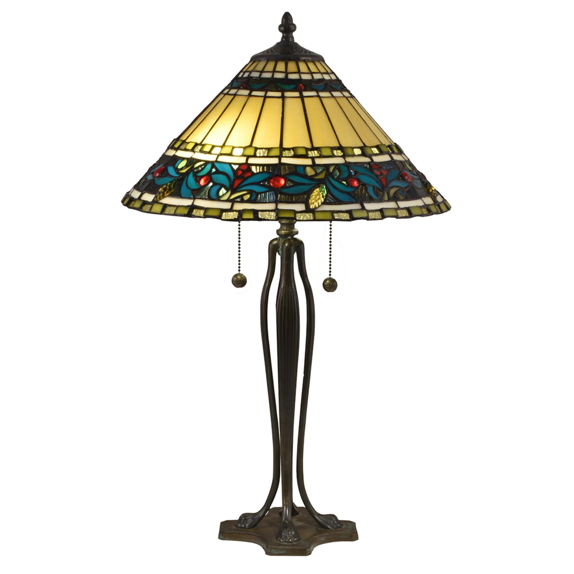 Dale Tiffany 25 Inch Table Lamp - TT18190 Table Lamp Designer Lights Room & Exterior