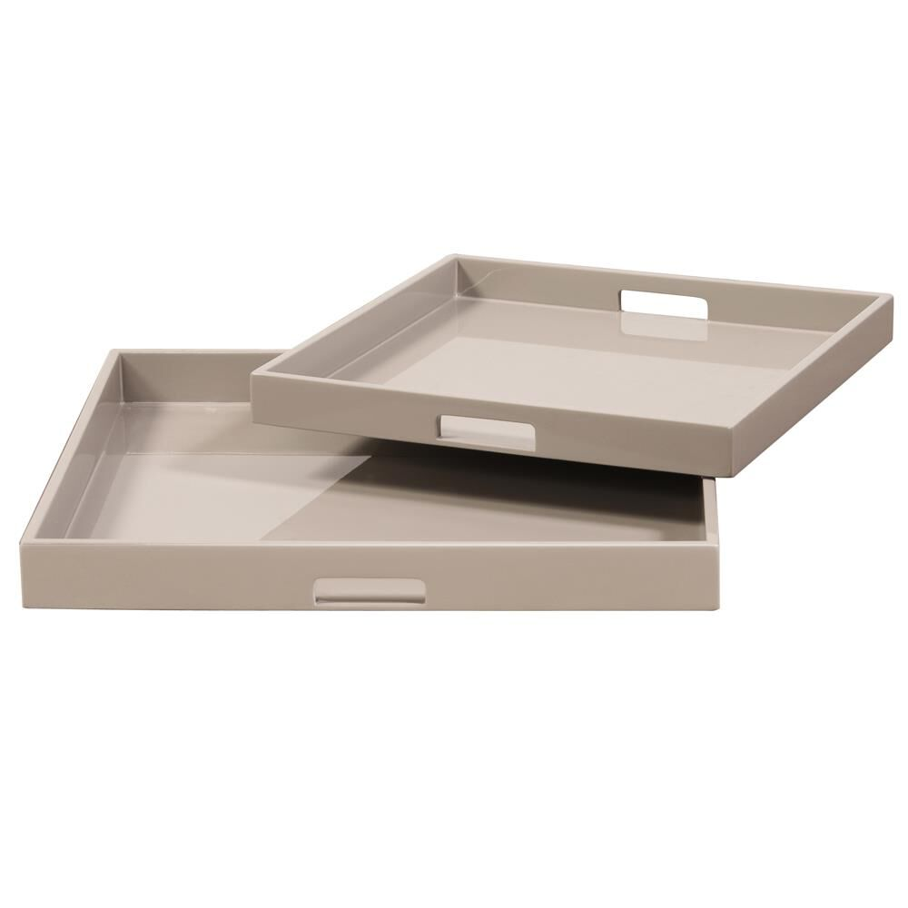 Howard Elliott Collection Lacquer Square Tray Lacquer Square - 83025 - Modern Contemporary