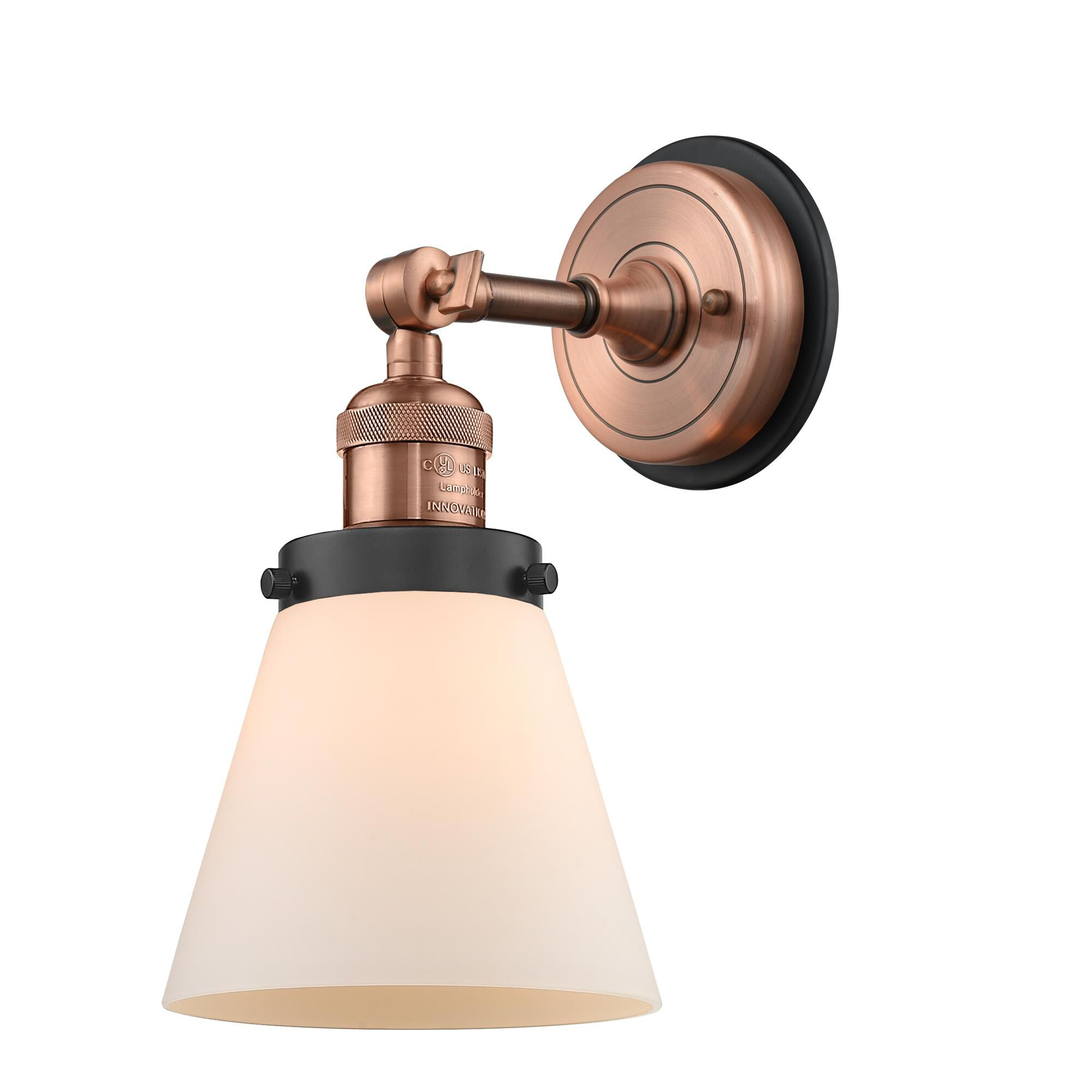Innovations Lighting Bruno Marashlian Small Cone 10 Inch Wall Sconce Small Cone - 203BP-ACBK-G61 - Nautical
