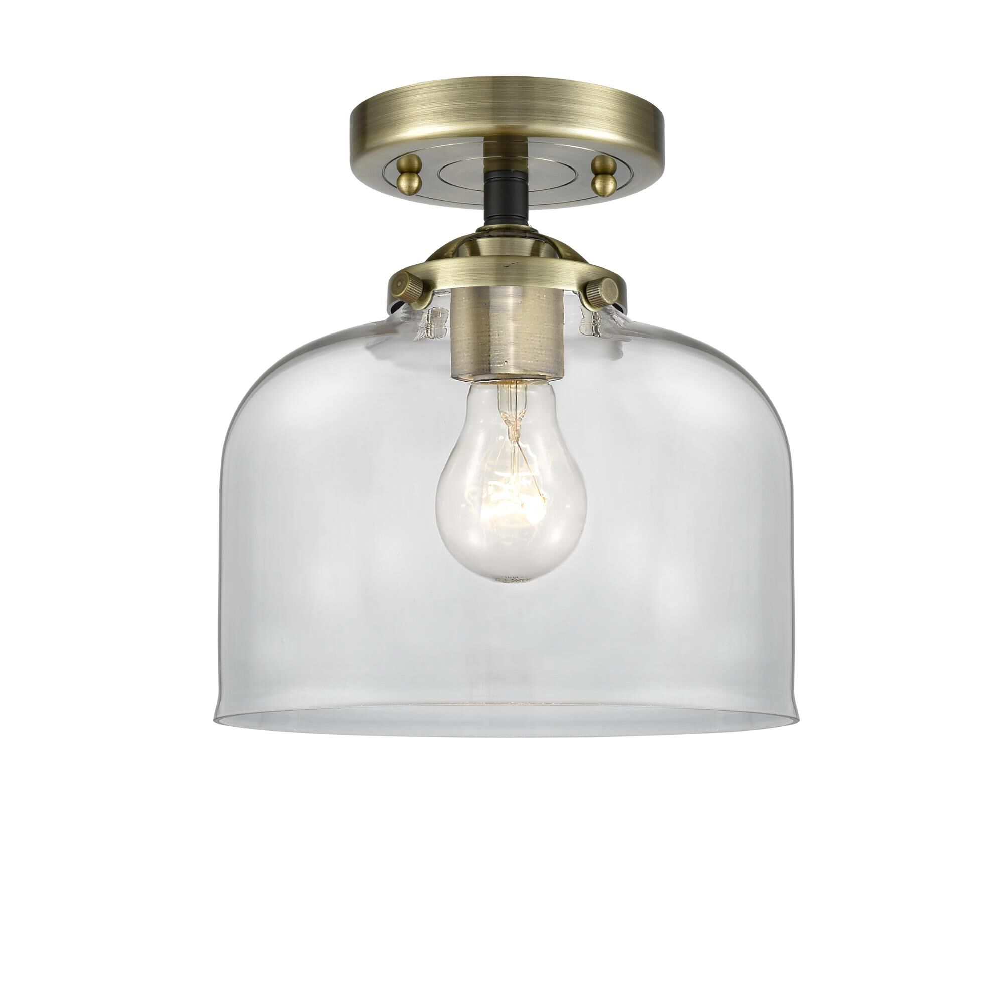 Innovations Lighting Bruno Marashlian Bell 8 Inch 1 Light Semi Flush Mount Bell - 284-1C-BAB-G72 - Transitional Semi Flush Mount
