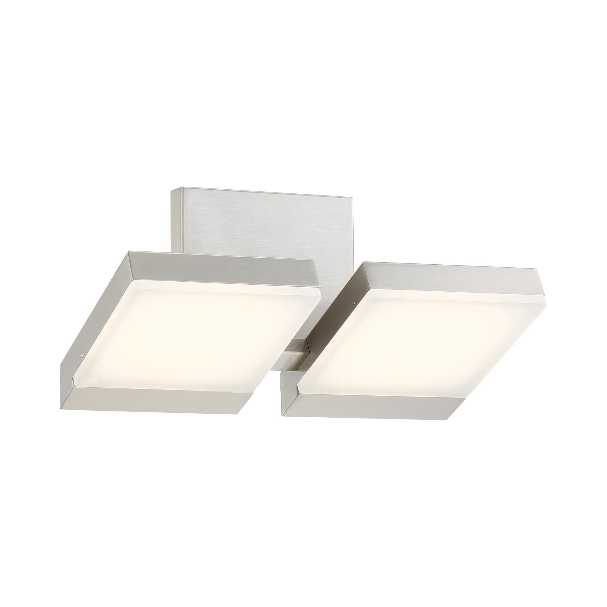 Kovacs Angle 13 Inch 2 Light Led Bath Vanity Light Angle - P1252-084-l - Transitional