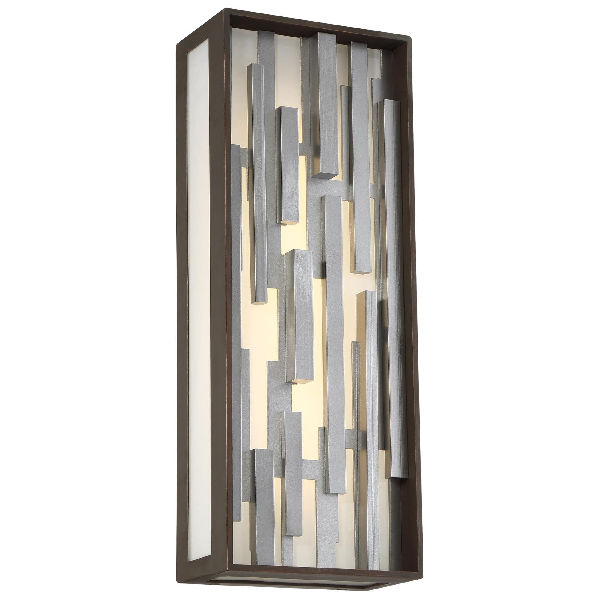 Kovacs Bars 17 Inch Tall 1 Light Led Outdoor Wall Light Bars - P1272-650-l - Modern Contemporary