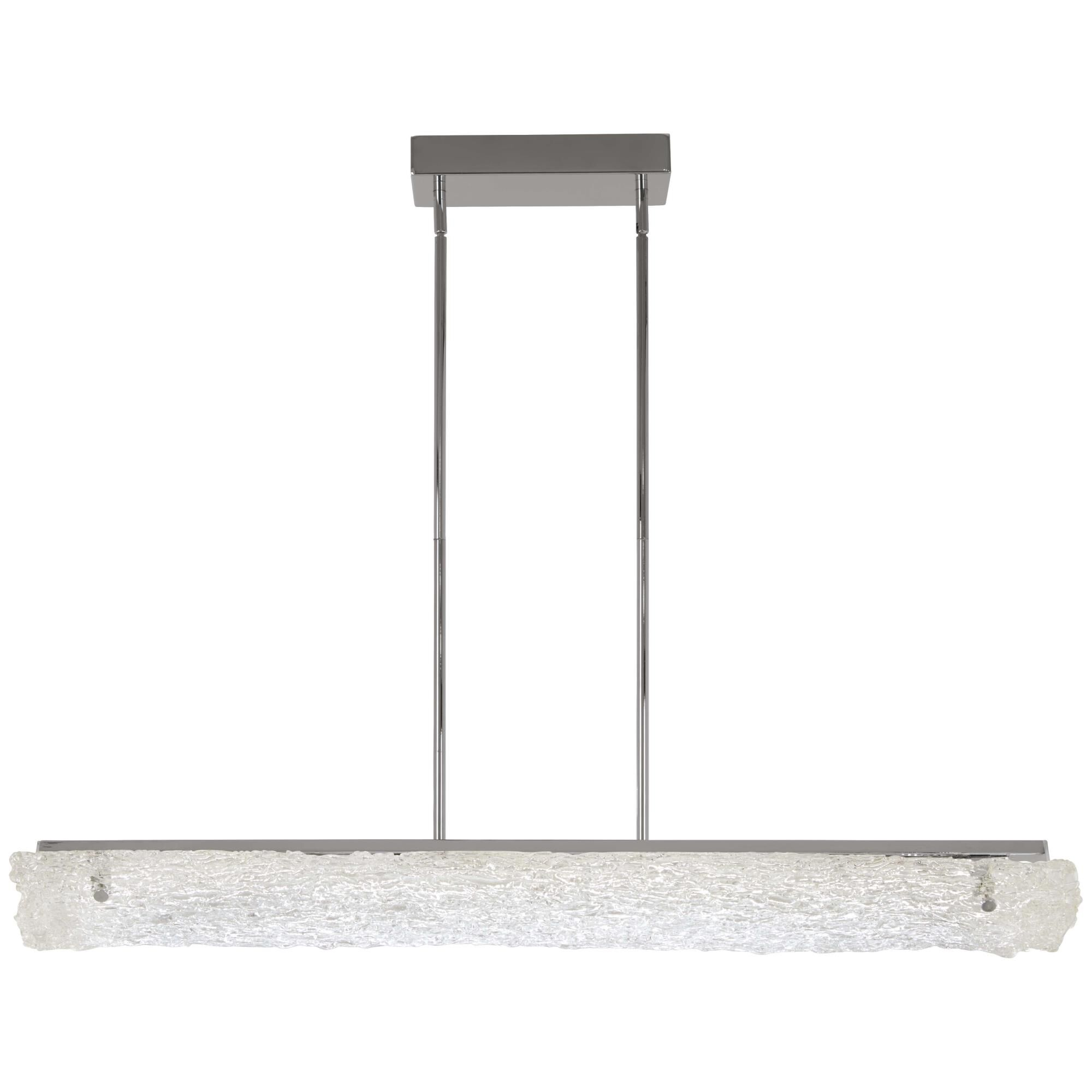 Kovacs Forest Ice 40 Inch 1 Light Led Linear Suspension Light Forest Ice - P1386-077-l - Modern Contemporary