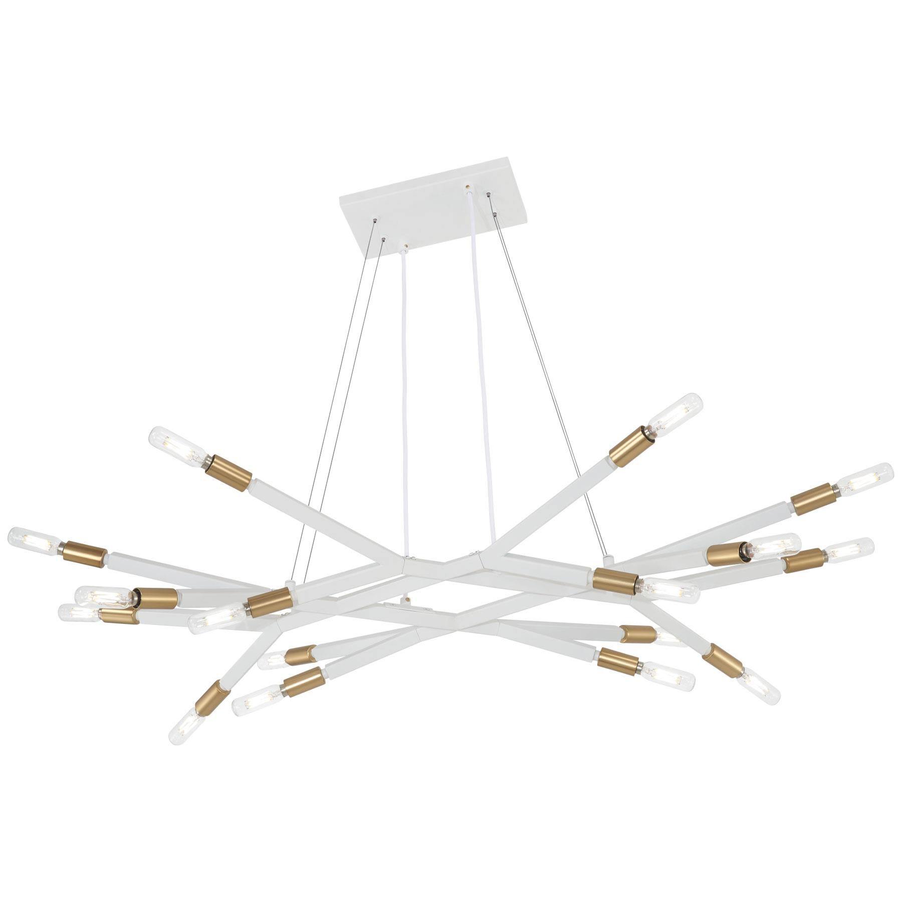 Kovacs Star Crossed 37 Inch 16 Light Linear Suspension Light Star Crossed - P1785-722 - Modern Contemporary