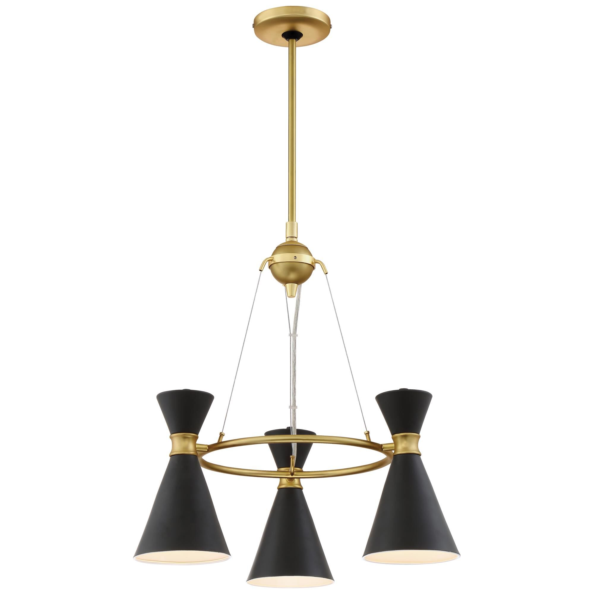 Kovacs Conic 20 Inch 3 Light Mini Chandelier Conic - P1823-248 - Transitional