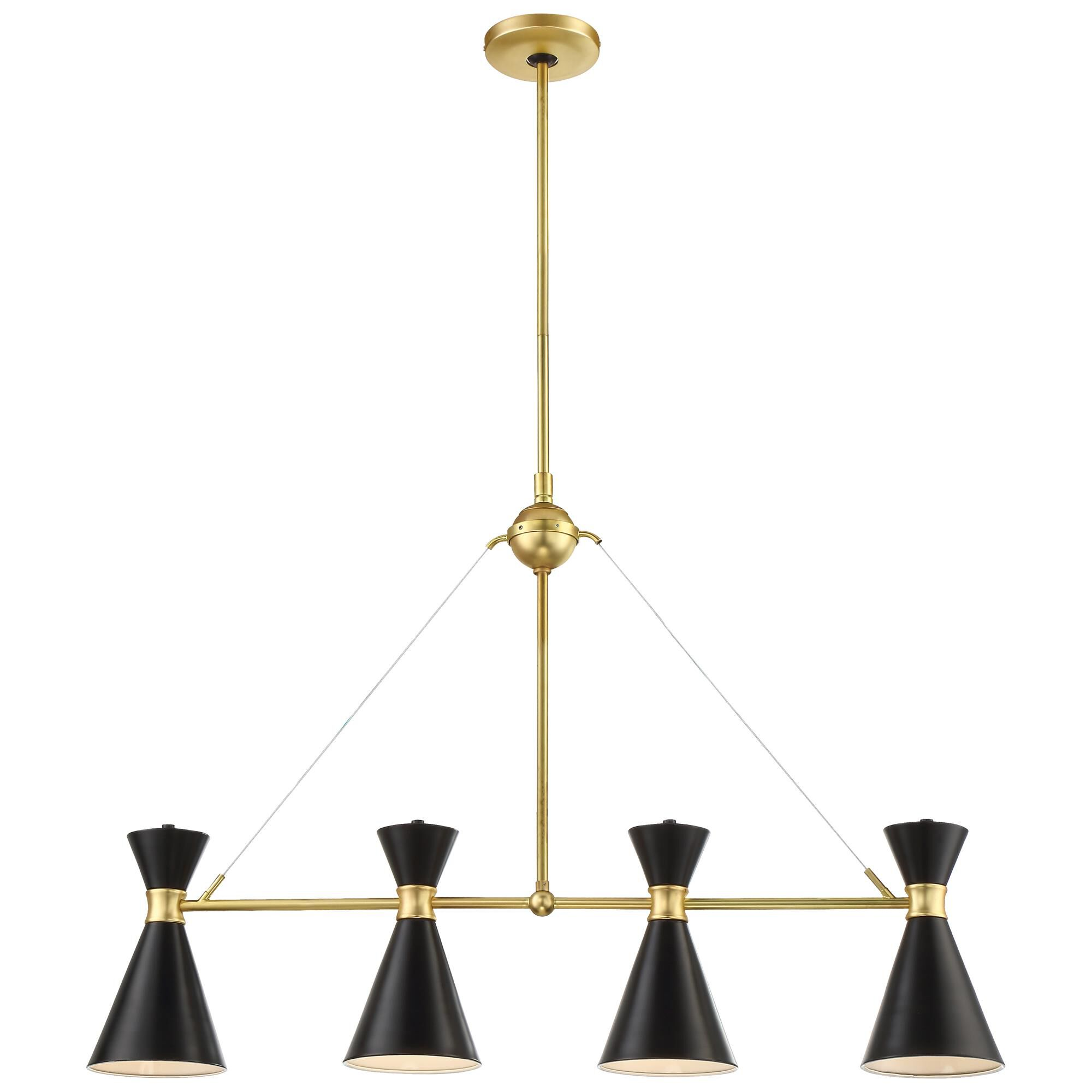 Kovacs Conic 35 Inch 4 Light Linear Suspension Light Conic - P1824-248 - Transitional