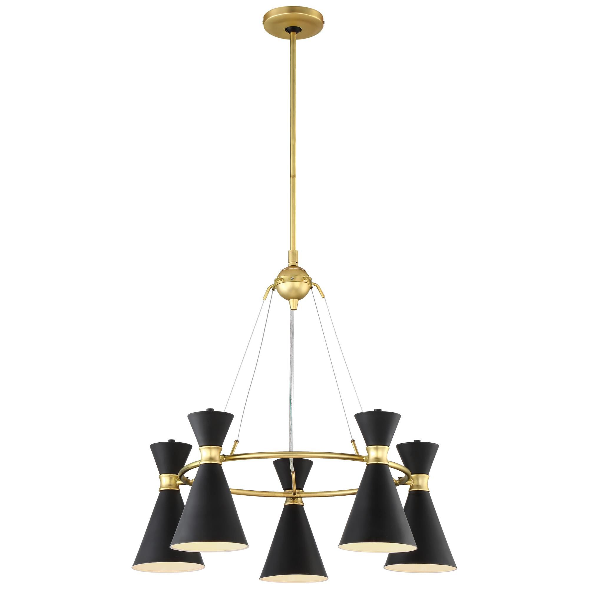 Kovacs Conic 26 Inch 5 Light Chandelier Conic - P1825-248 - Transitional