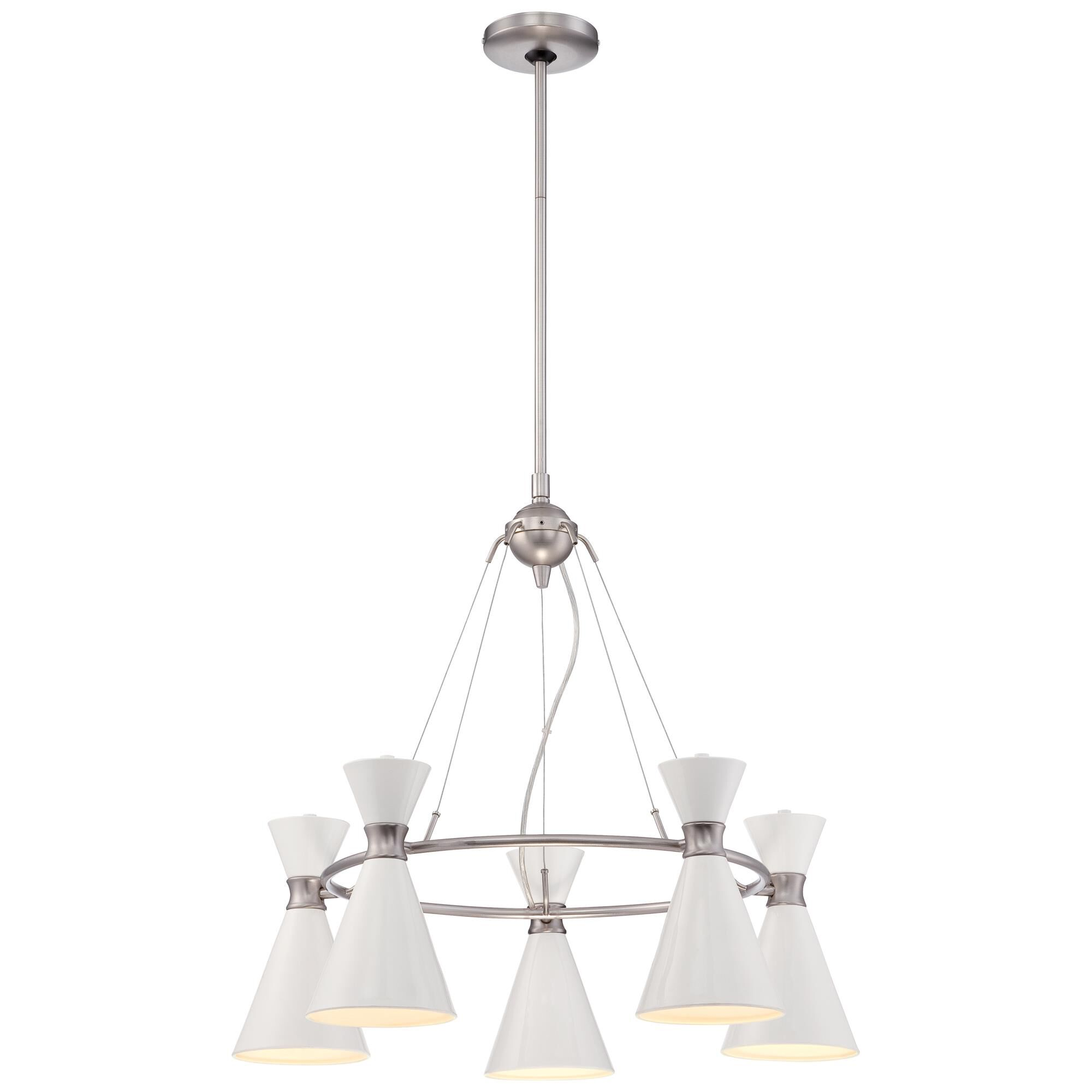 Kovacs Conic 26 Inch 5 Light Chandelier Conic - P1825-44f - Transitional