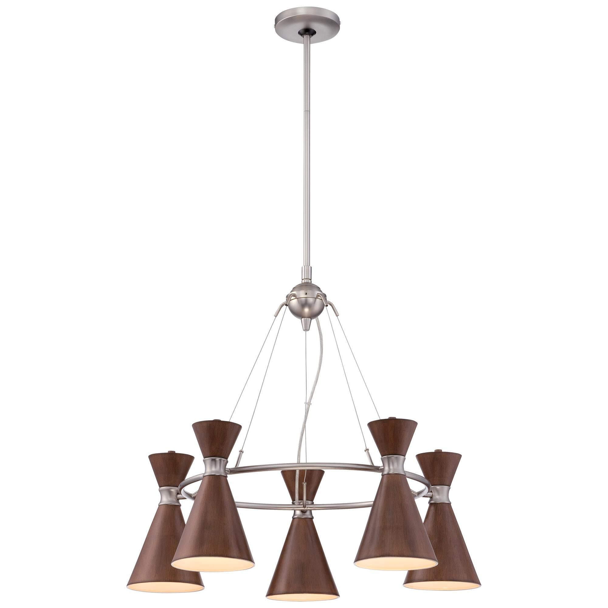 Kovacs Conic 26 Inch 5 Light Chandelier Conic - P1825-651 - Transitional