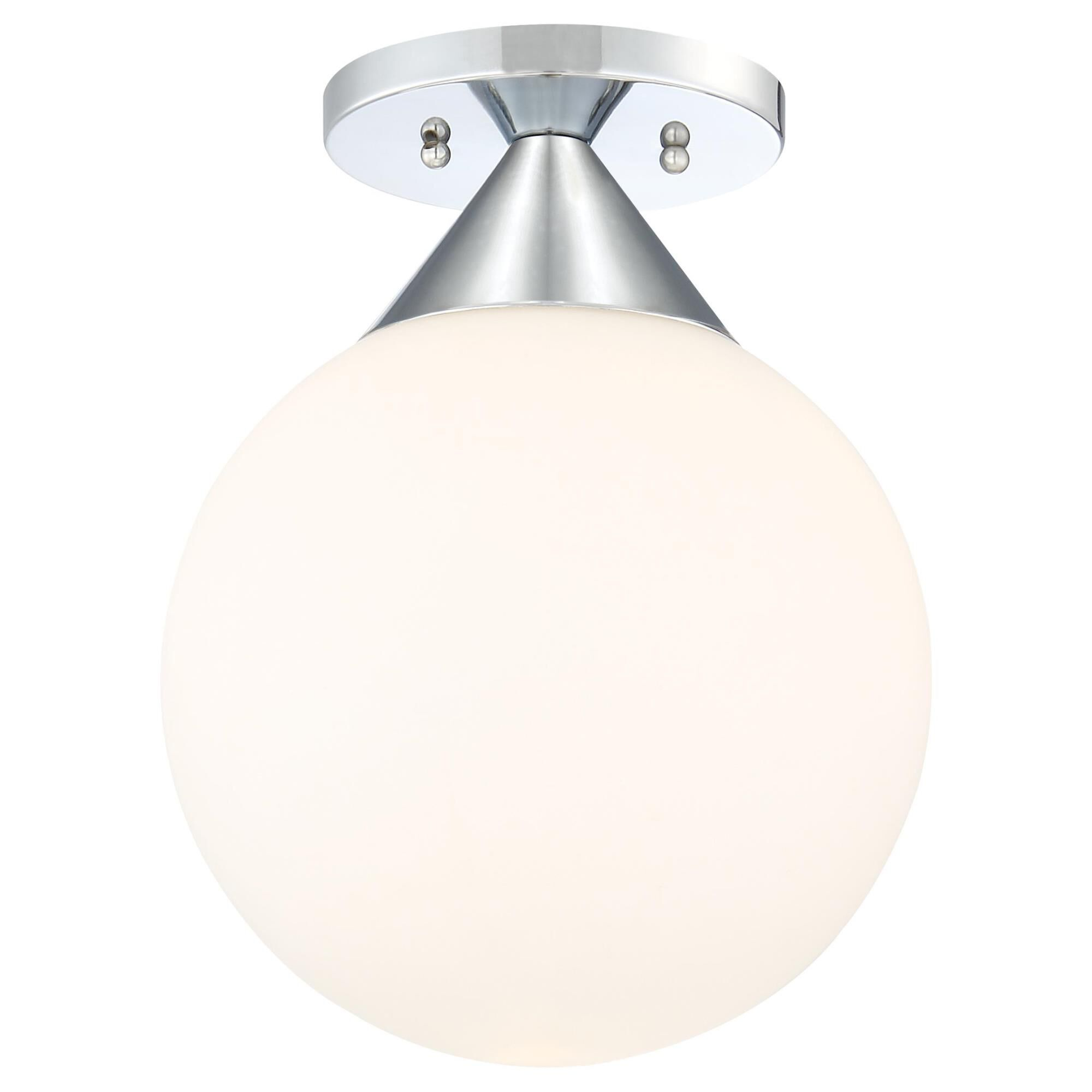 Kovacs Simple 9 Inch 1 Light Flush Mount Simple - P1839-077 - Transitional
