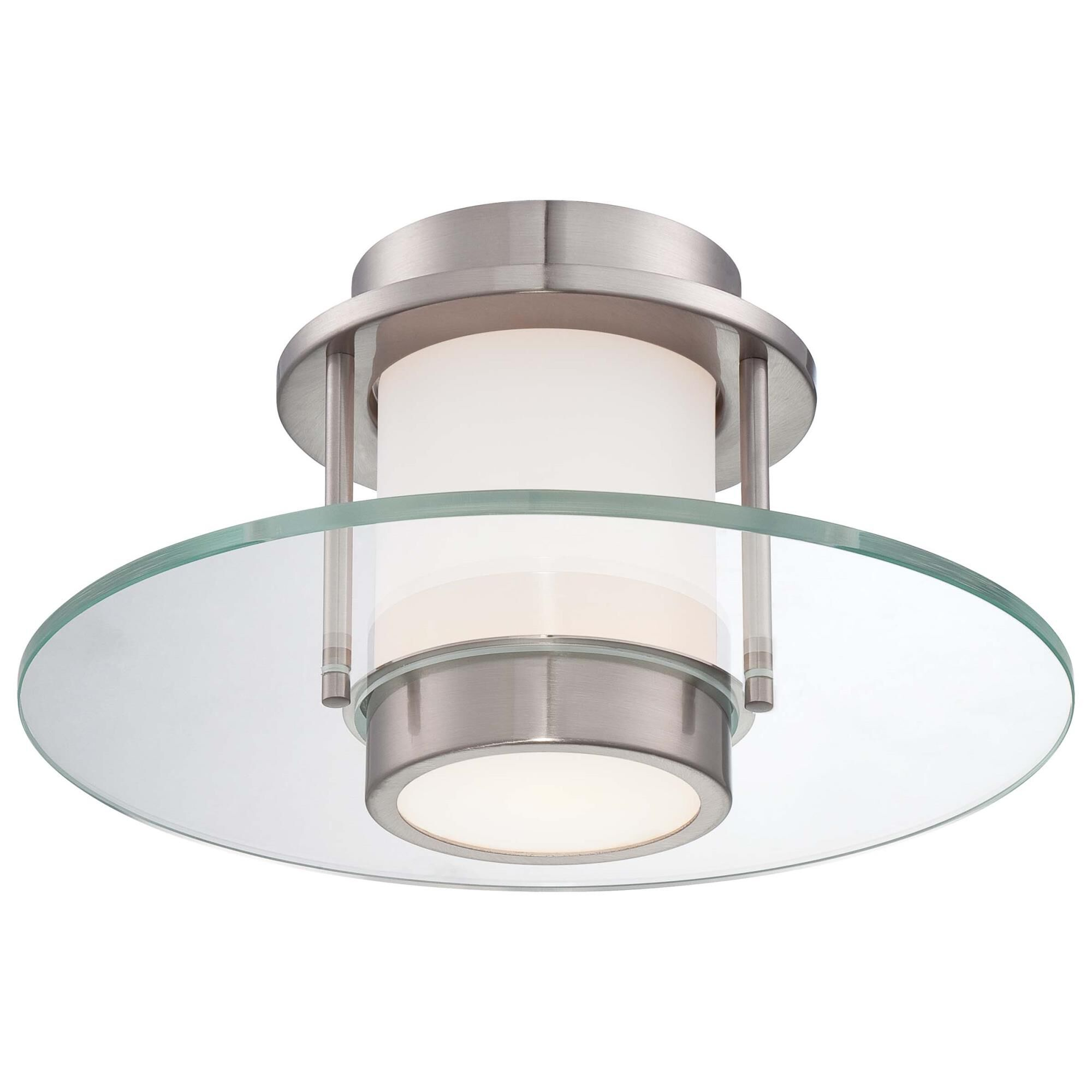Kovacs 13 Inch 1 Light Semi Flush Mount - P854-084 - Modern Contemporary