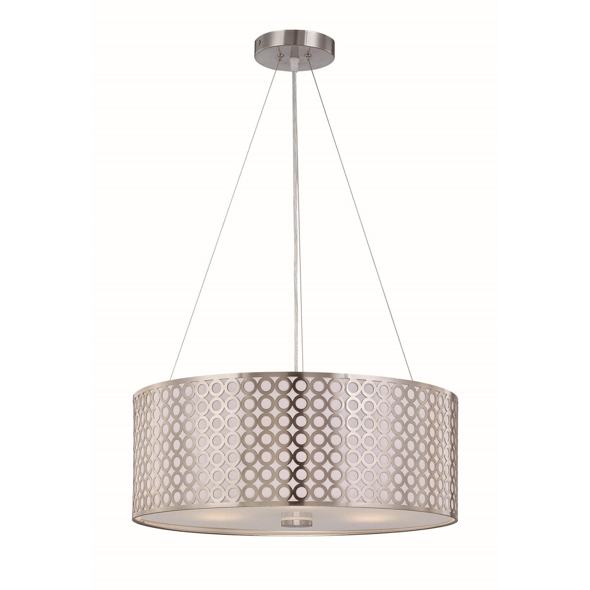 Lite Source Netto 20 Inch Large Pendant Netto - LS-19519PS - Modern Contemporary
