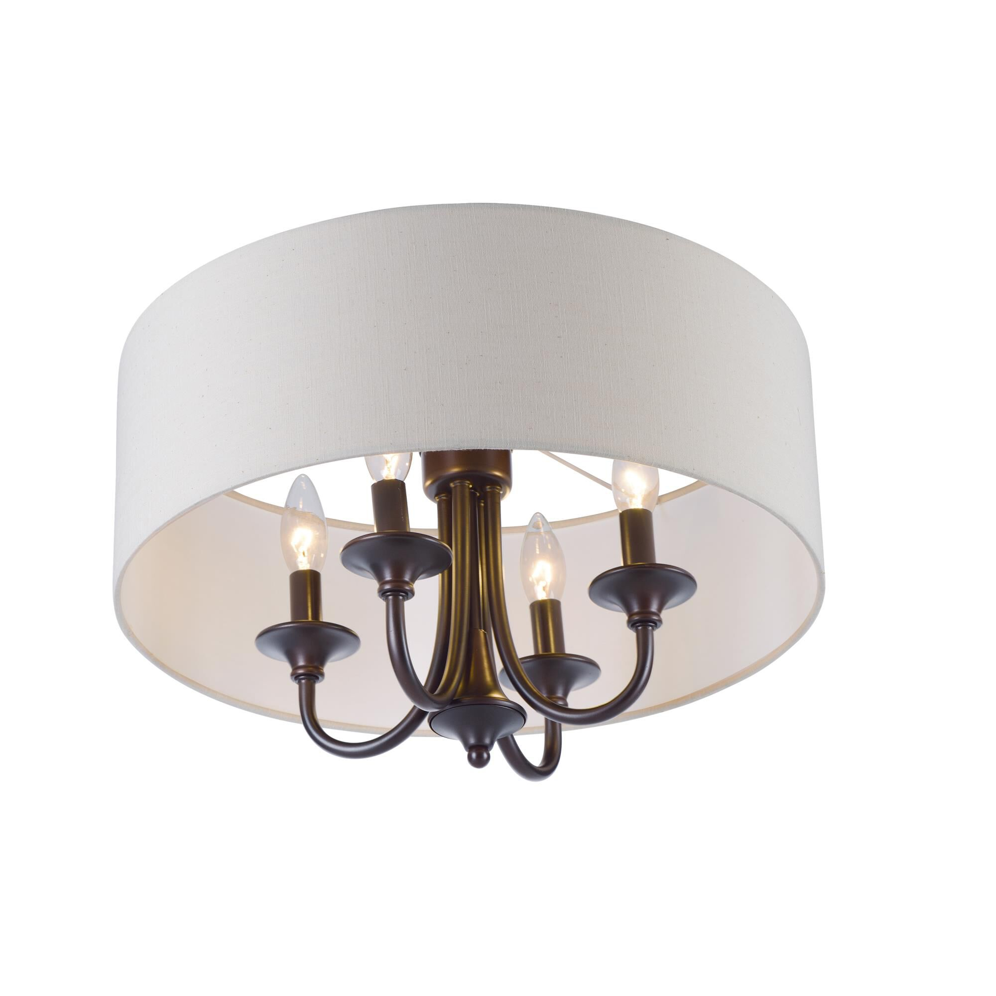 Maxim Lighting Bongo 18 Inch 4 Light Semi Flush Mount Bongo - 10013OMOI - Traditional Semi Flush Mount