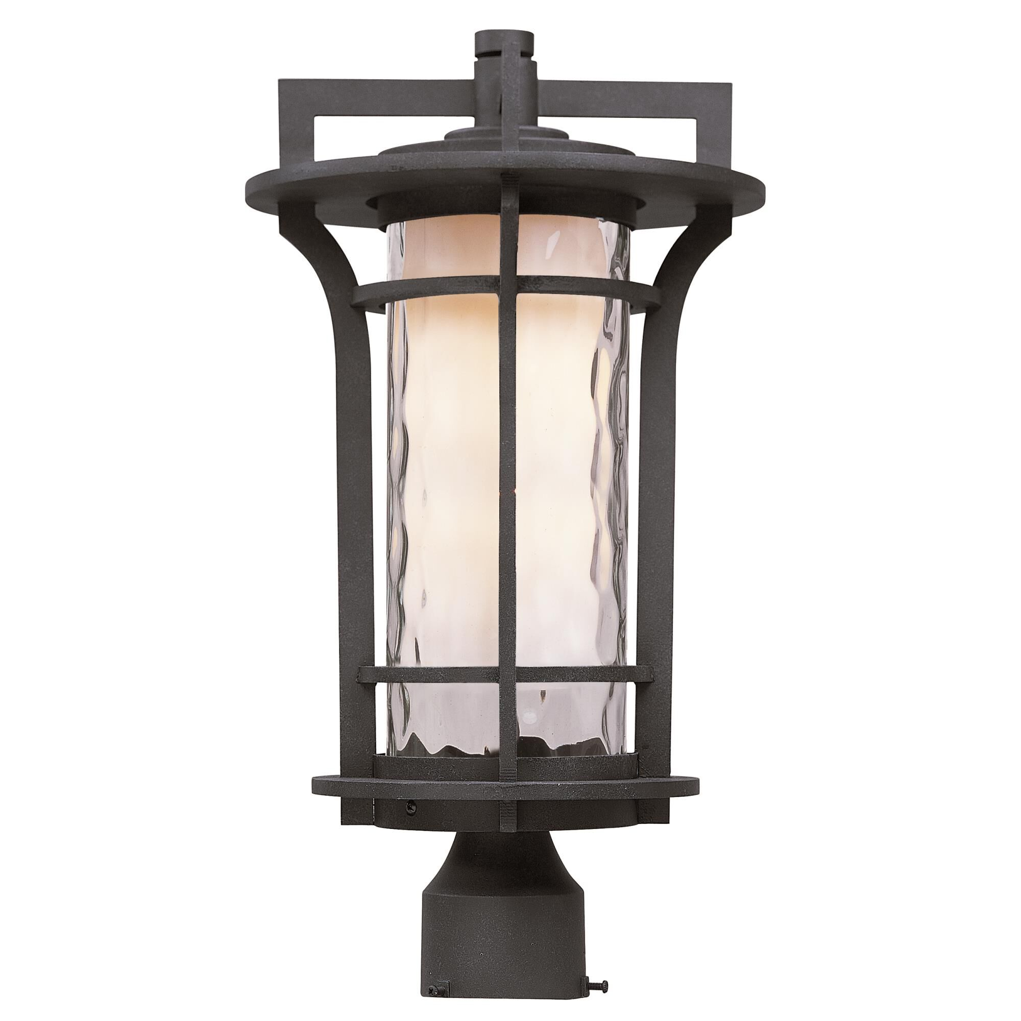 Maxim Lighting Oakville 17 Inch Tall 1 Light Outdoor Post Lamp Oakville - 30480WGBO - Craftsman-Mission