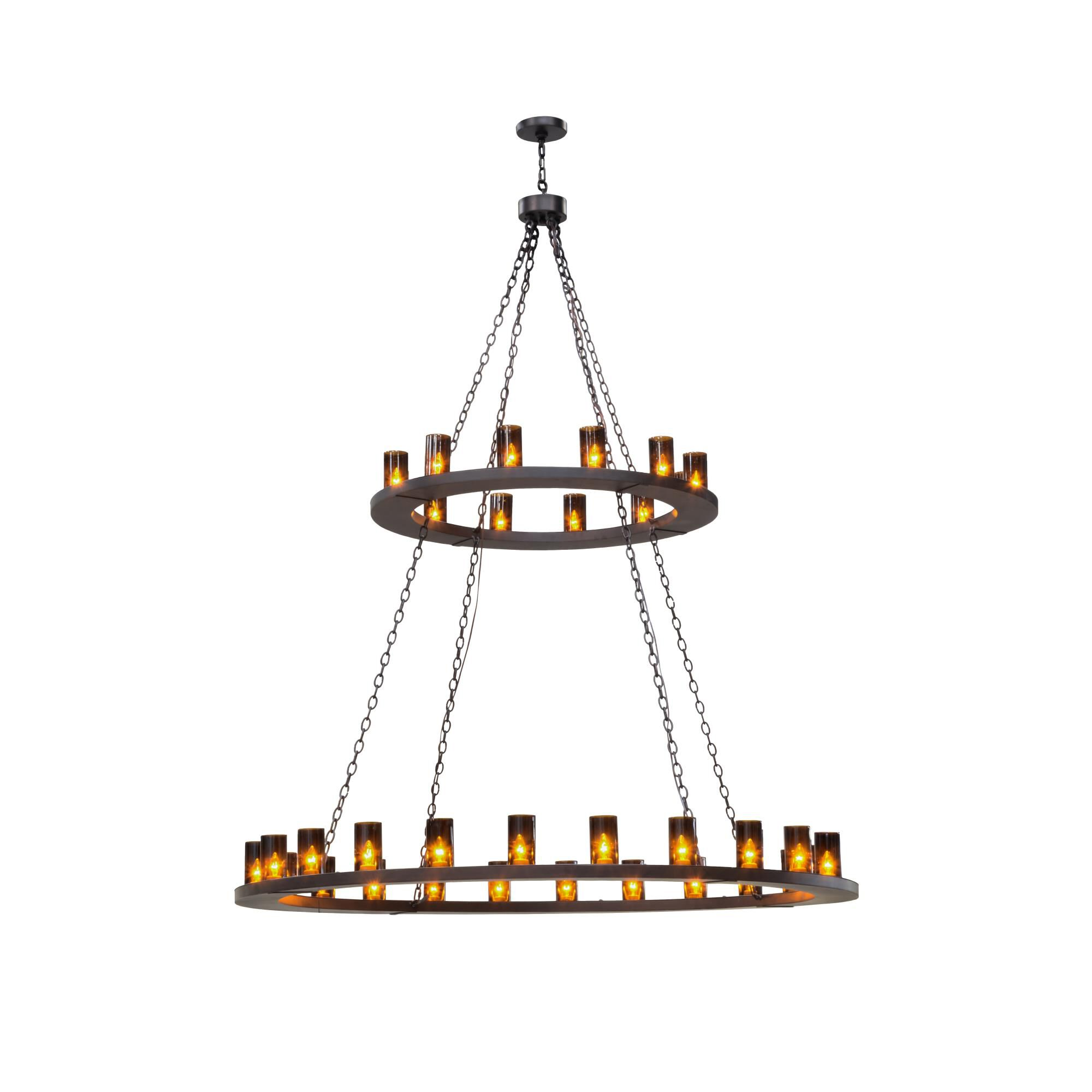 2nd Avenue Design Loxley 72 Inch 36 Light Chandelier Loxley 39054 1MBRZ