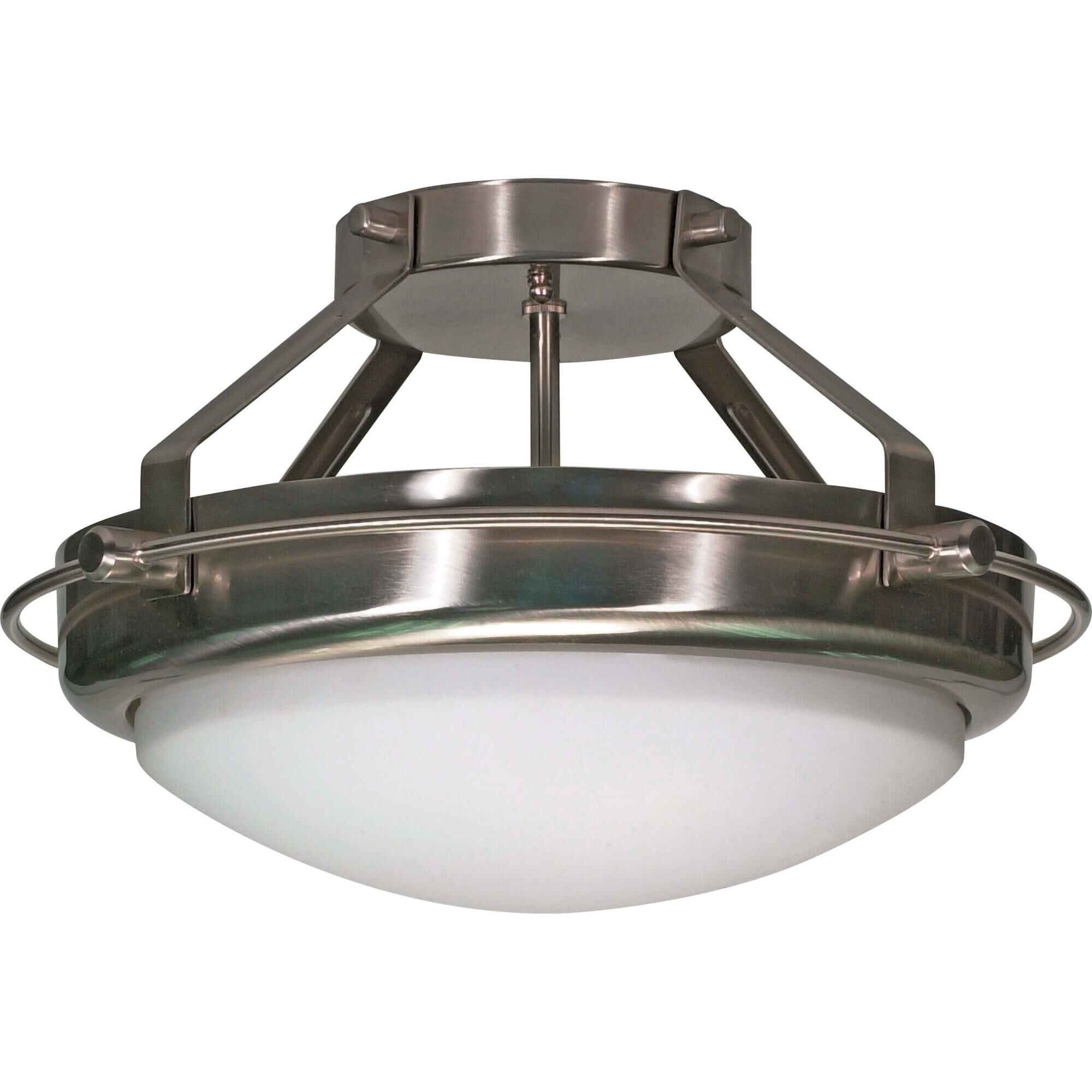 Nuvo Lighting Polaris 14 Inch 2 Light Semi Flush Mount Polaris - 60/609 - Transitional Semi Flush Mount