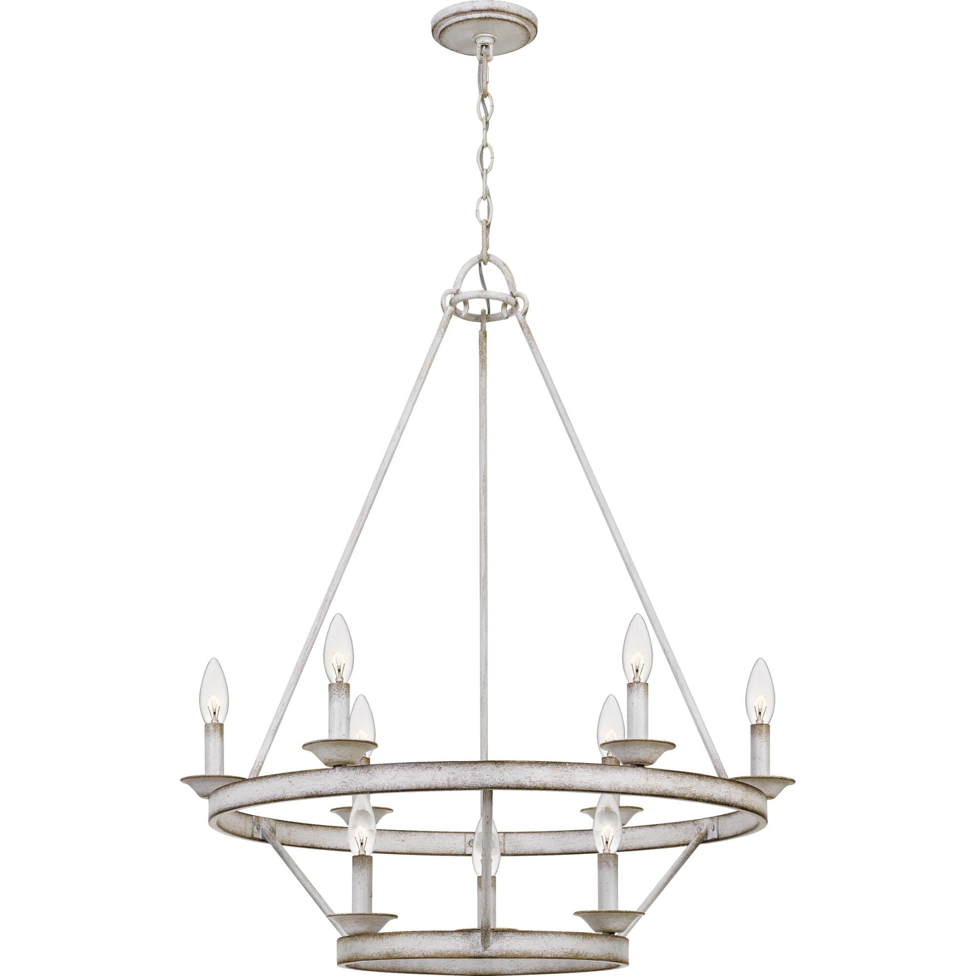 Quoizel Corral 28 Inch 9 Light Chandelier Corral - Crl5009awh - Transitional