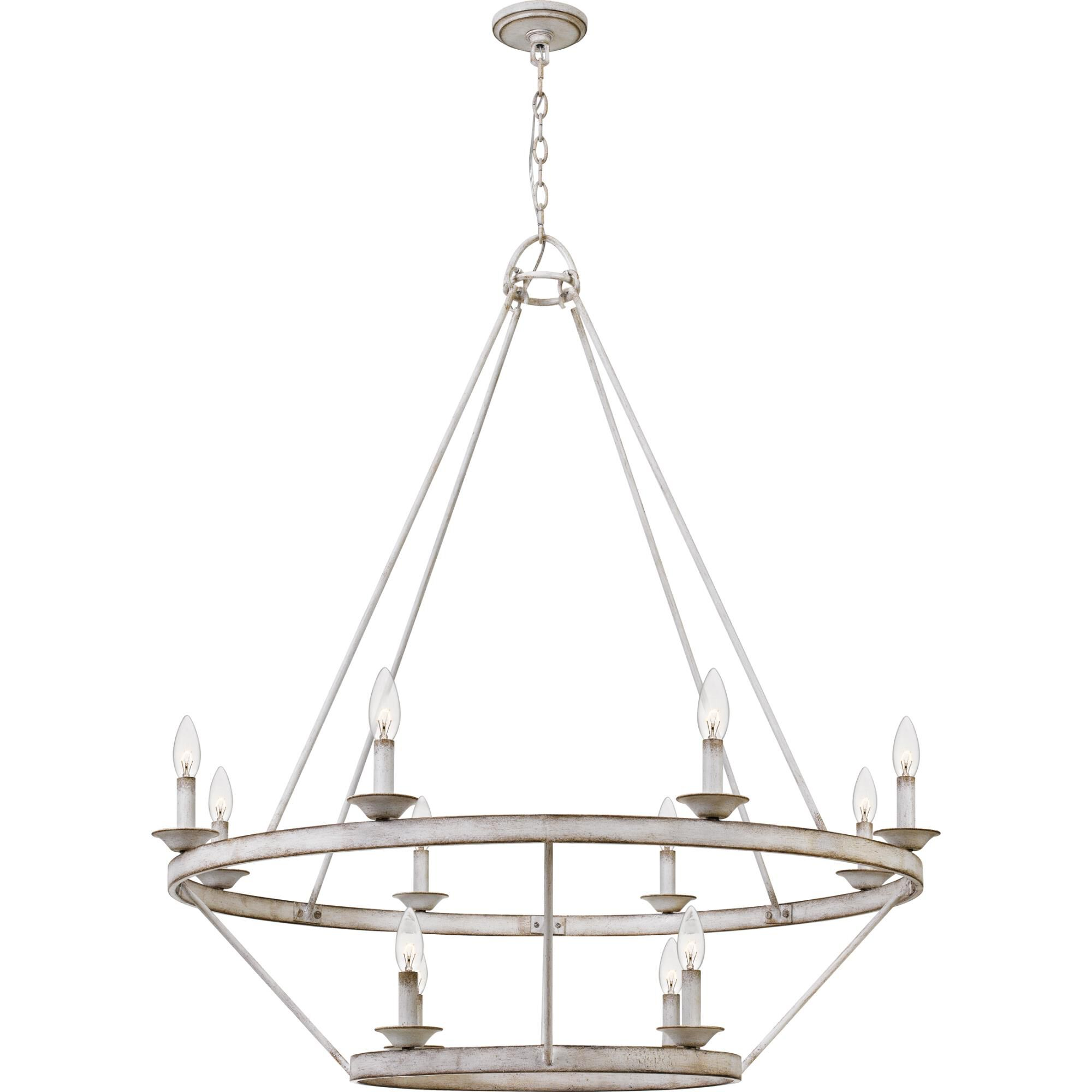 Quoizel Corral 39 Inch 12 Light Chandelier Corral - Crl5012awh - Transitional