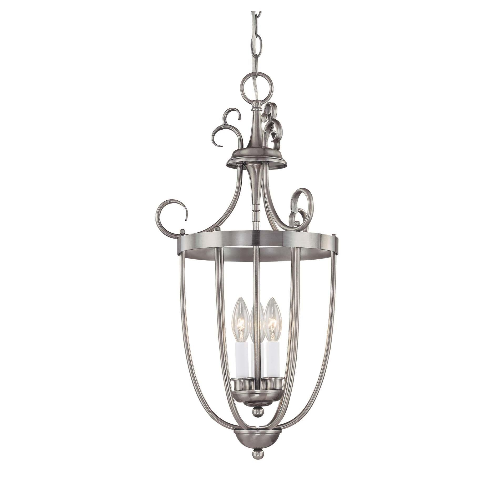Savoy House Foyer 13 Inch Cage Pendant Foyer - 3p-80200-3-69 - Transitional Cage Pendant
