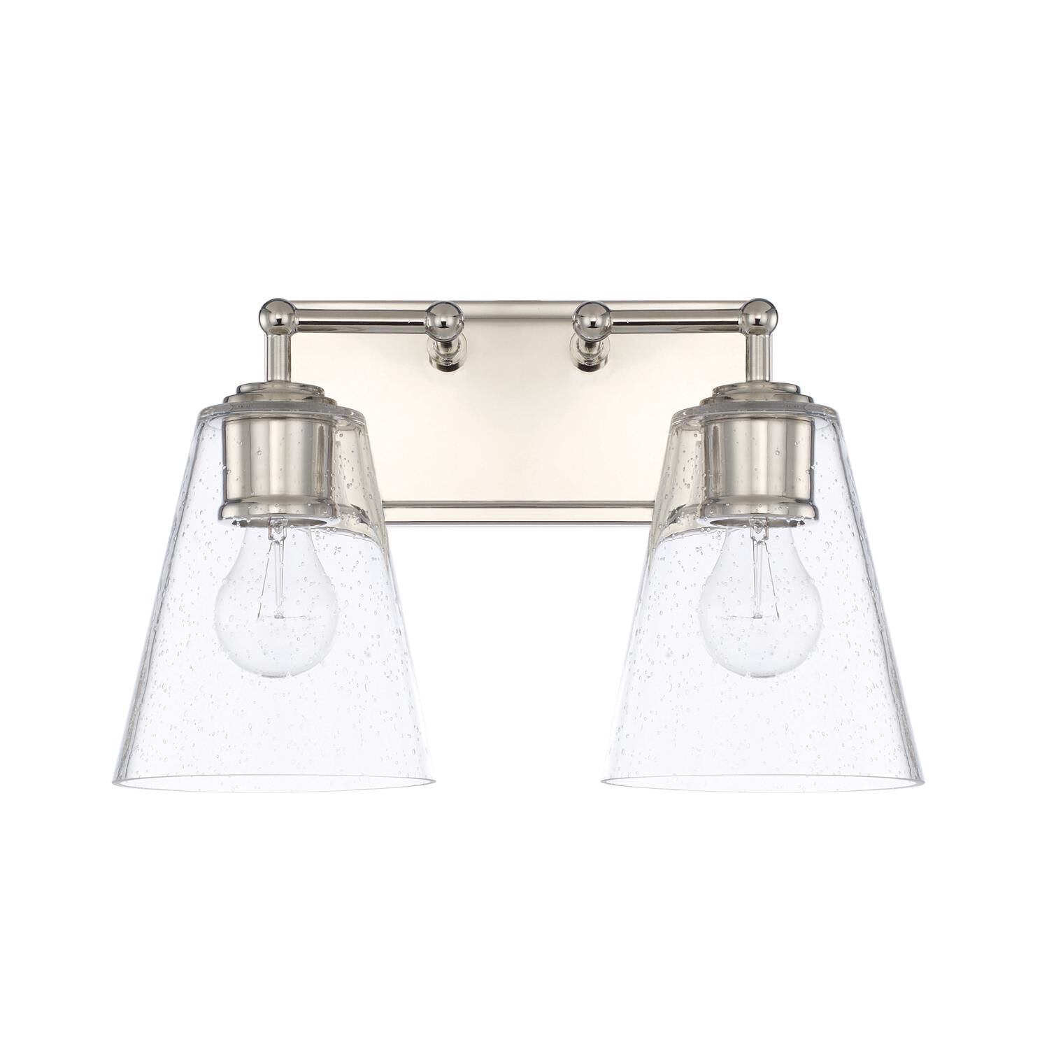 Capital Lighting Fixture Company 14 Inch 2 Light Bath Vanity Light - 121721pn-463 - Transitional