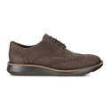 ECCO Men's Lhasa Brogue Tie Oxford (Coffee or Black)