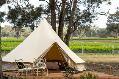 Midweek Winery Glamping with Breakfast and Wine