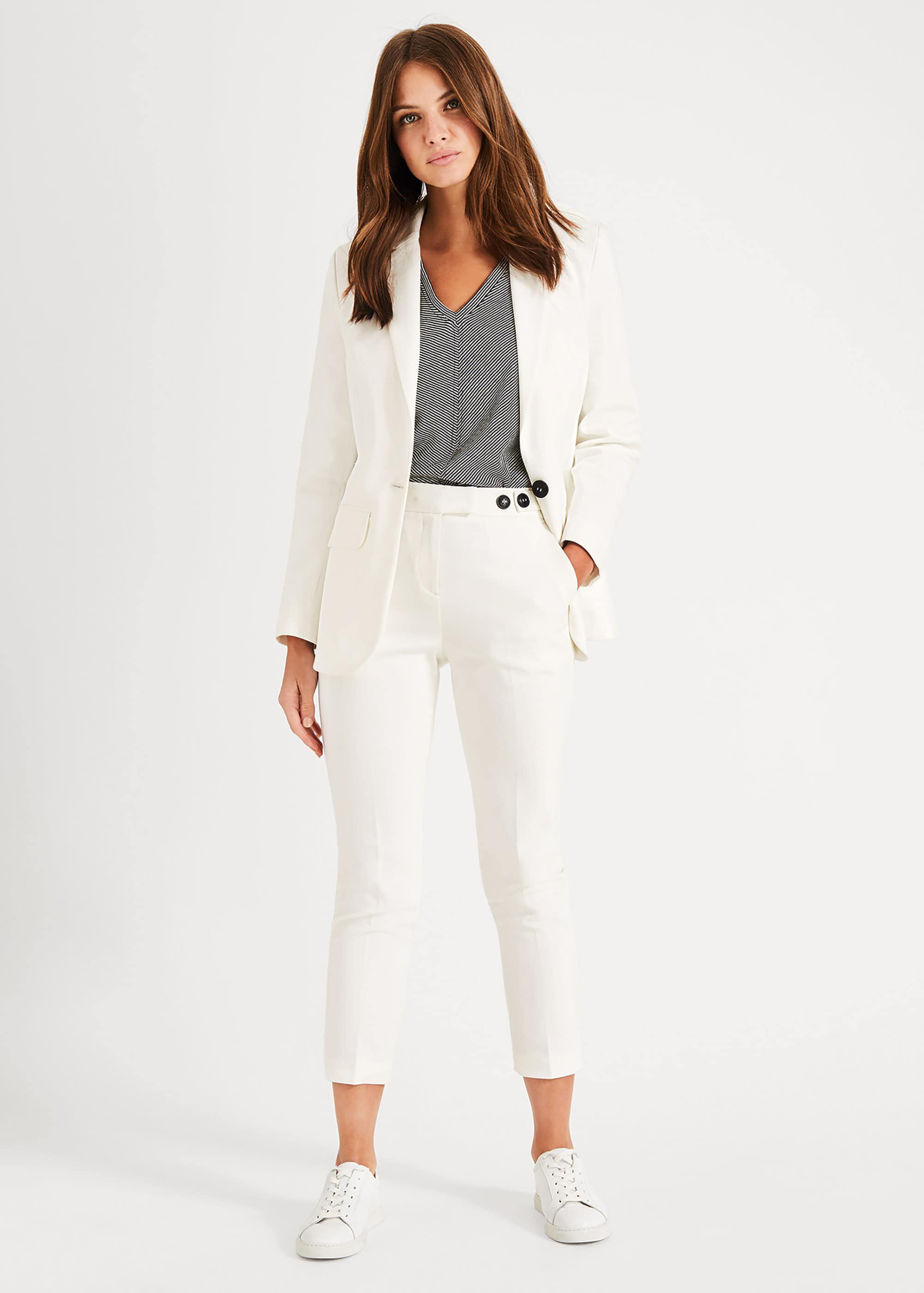 Phase Eight Women's Ulrica Suit Trousers, White, Tapered