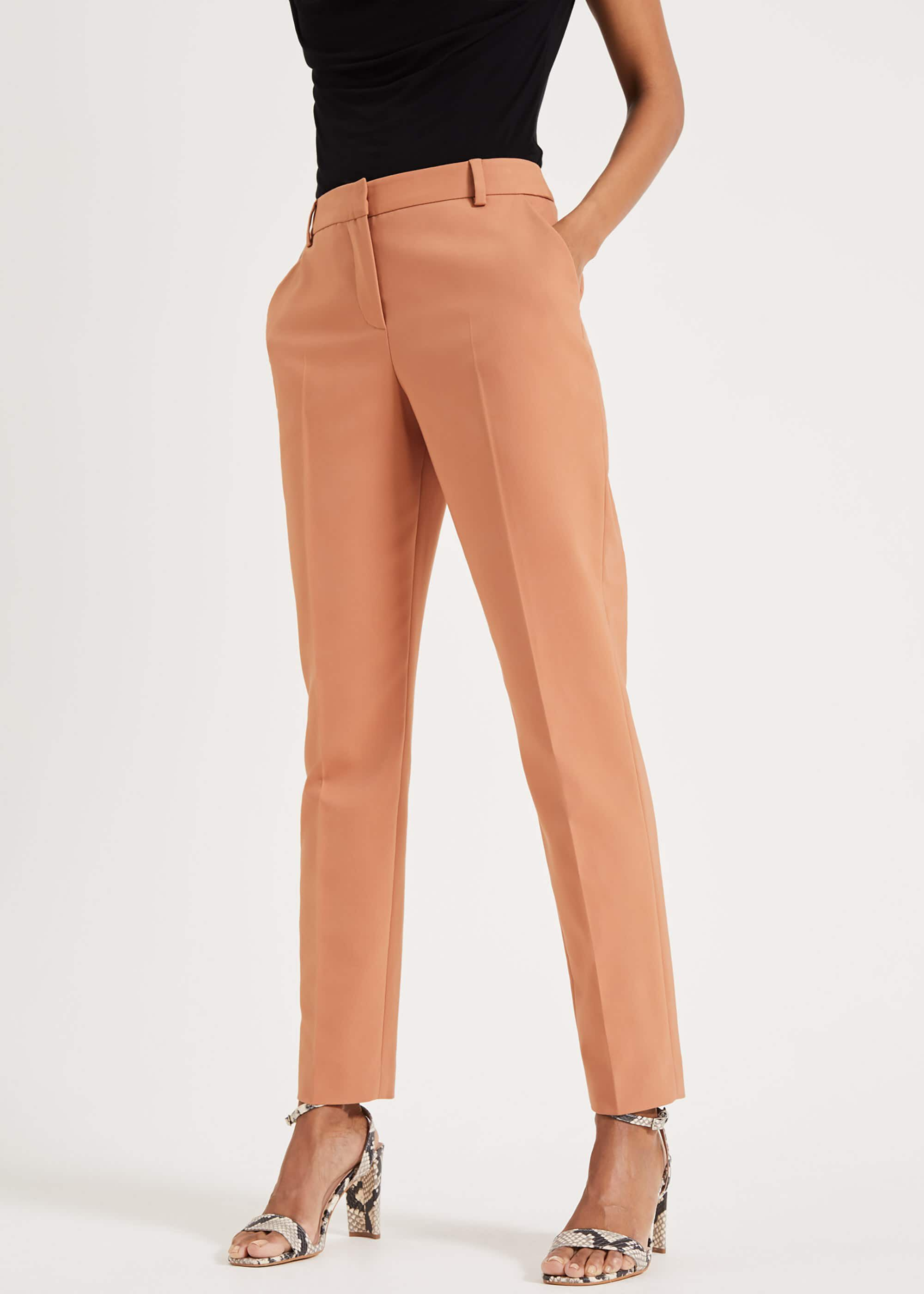 Phase Eight Women's Bronwen Tapered Trousers, Brown, Tapered