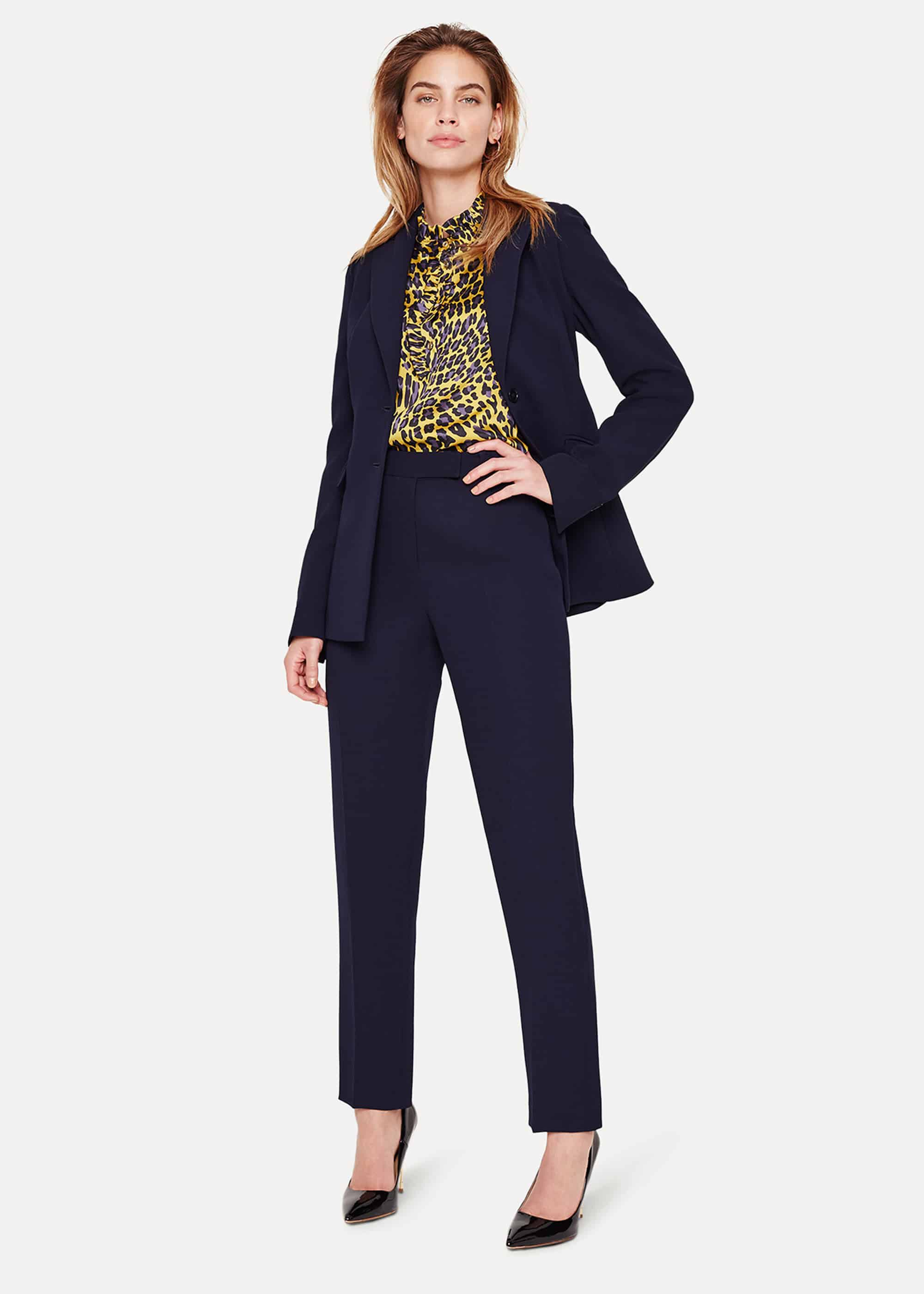 Damsel in a Dress Women's Isabella Tapered City Suit Trousers, Blue