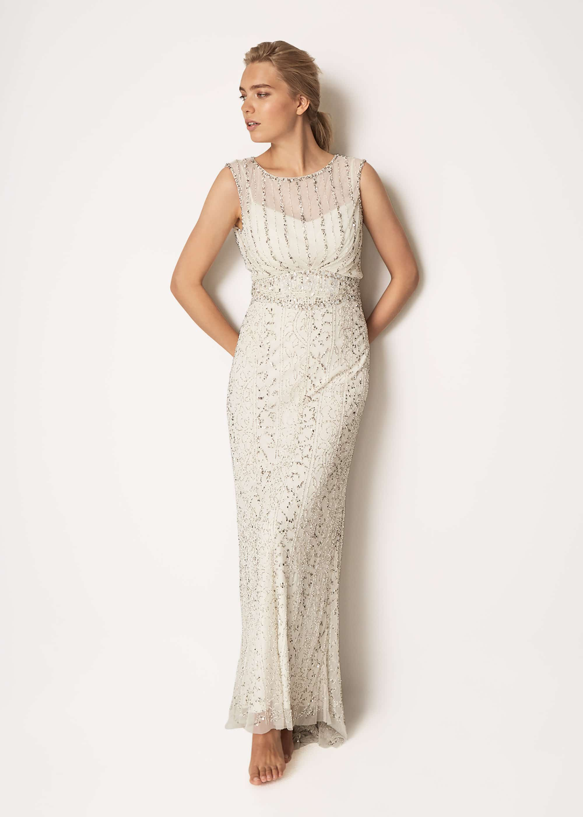Phase Eight Hope Wedding Dress, Cream, Wedding