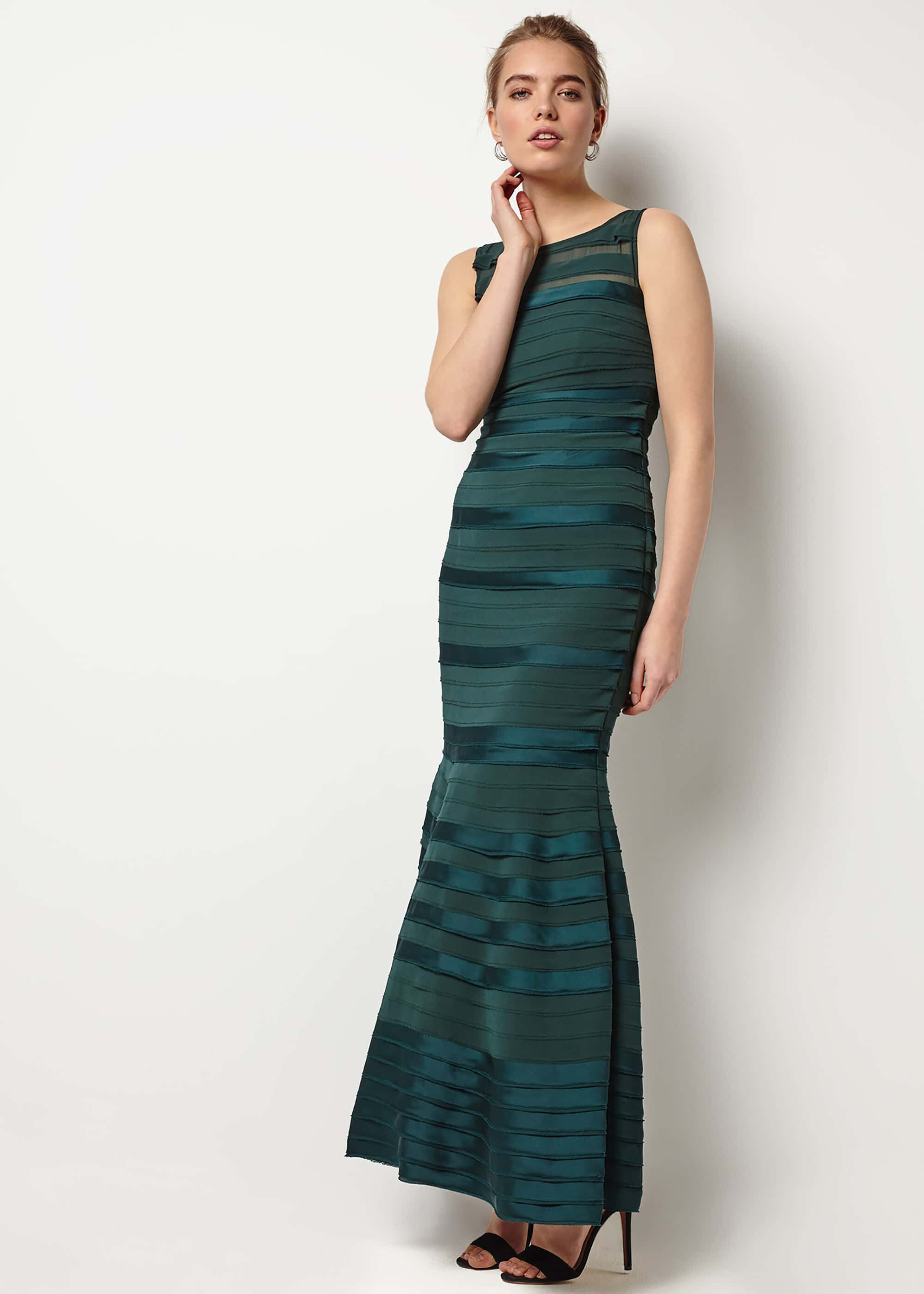 Phase Eight Shannon Layered Maxi Dress, Green, Maxi